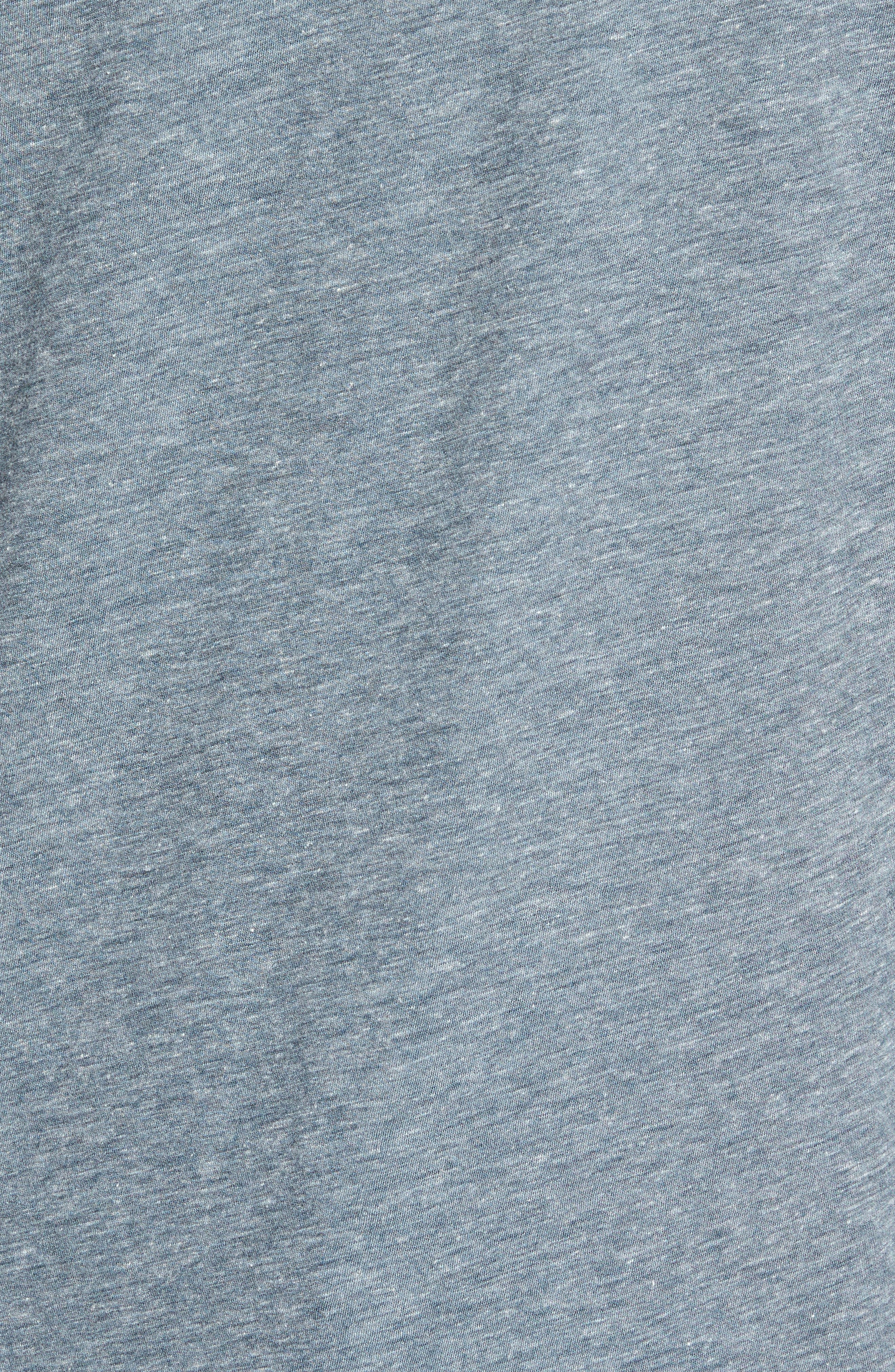 Slubbed Cotton & Linen Pocket T-Shirt,                             Alternate thumbnail 14, color,