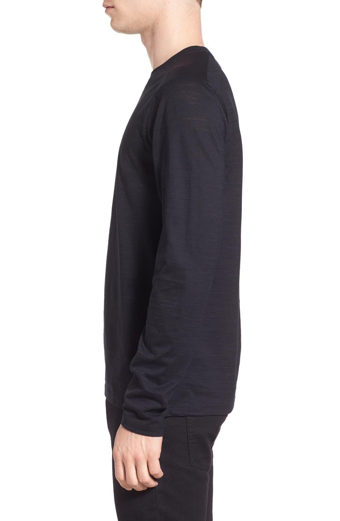 'Tenison' Slim Fit Long Sleeve T-Shirt,                             Alternate thumbnail 3, color,                             001
