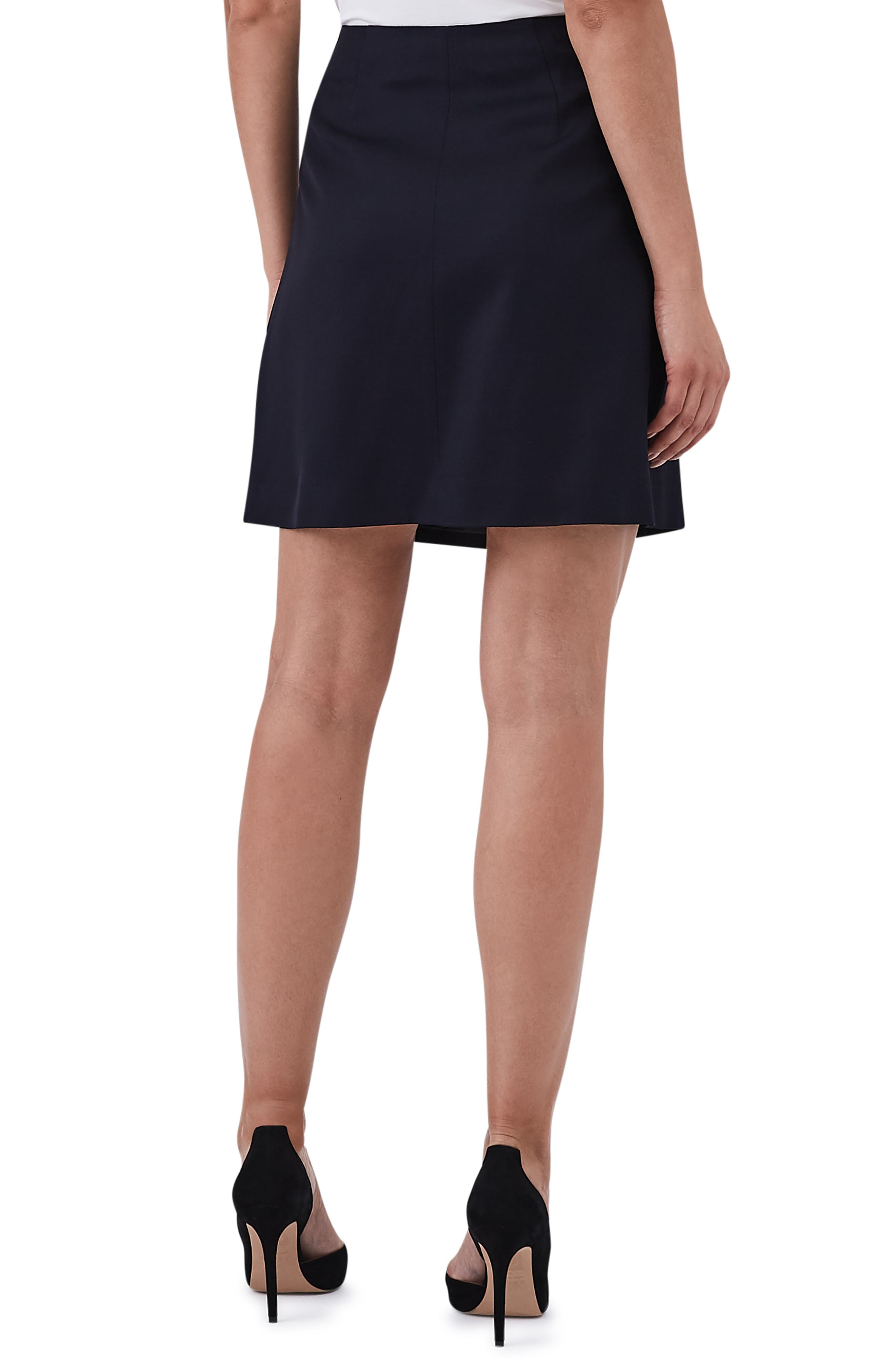 Tally Button Wool Blend Mini Skirt,                             Alternate thumbnail 2, color,                             410