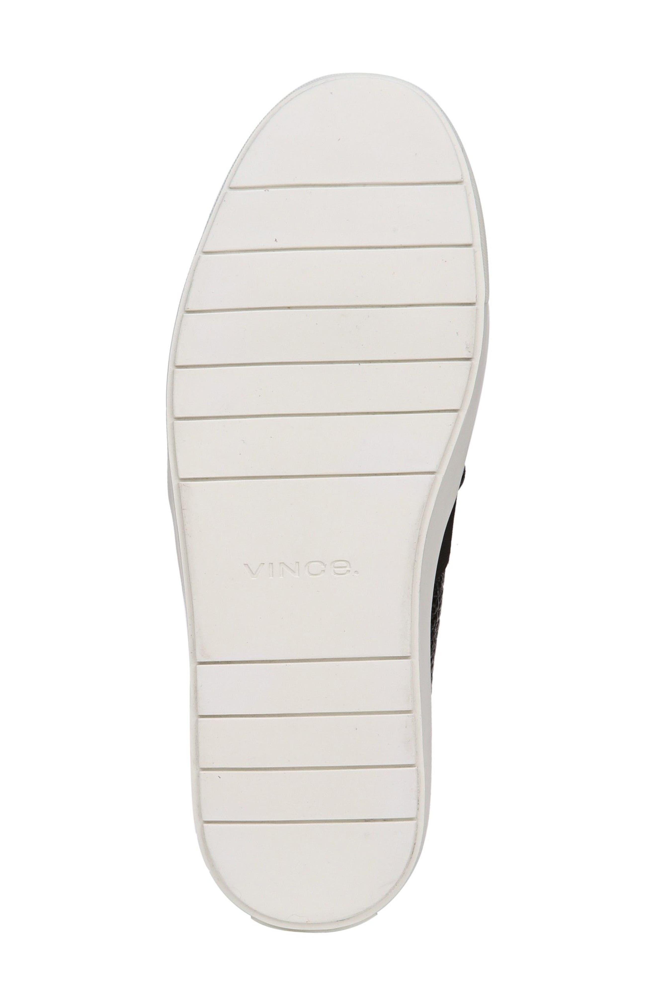 'Blair 12' Leather Slip-On Sneaker,                             Alternate thumbnail 5, color,                             BLACK LEATHER