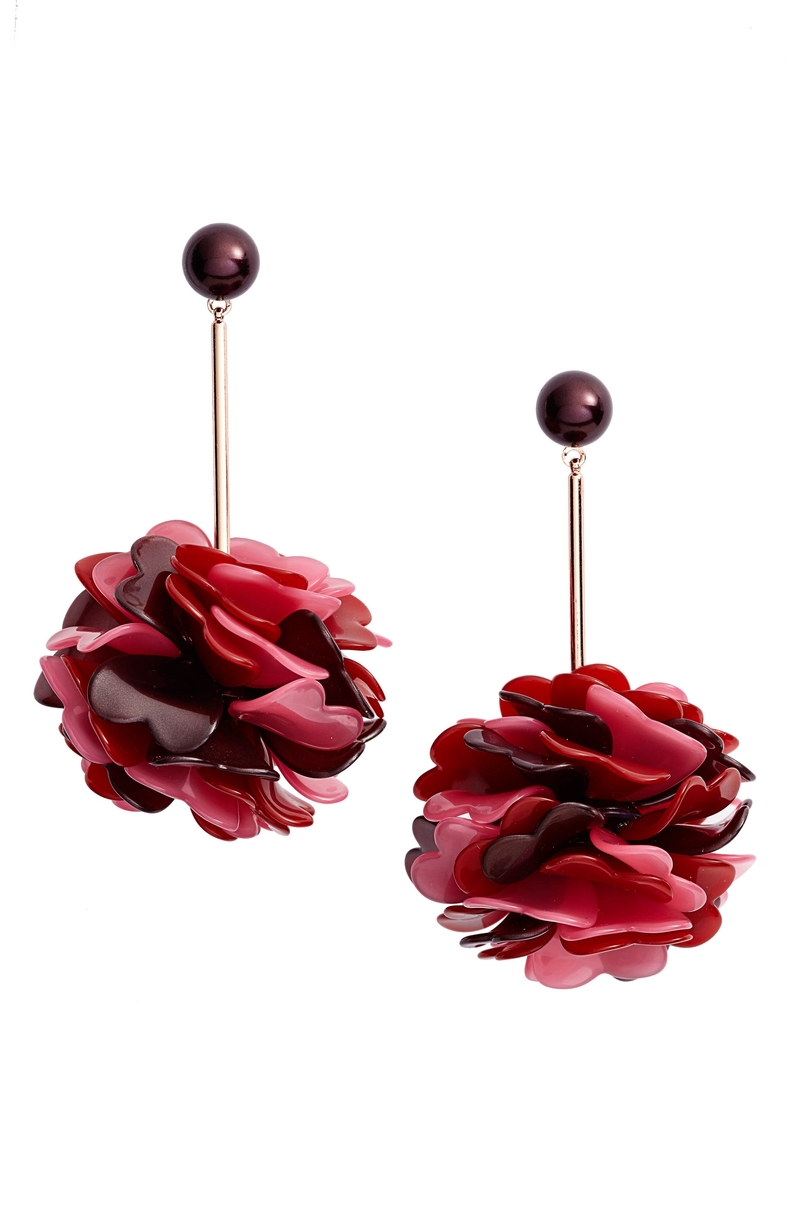 rosy outlook statement earrings,                         Main,                         color, 650