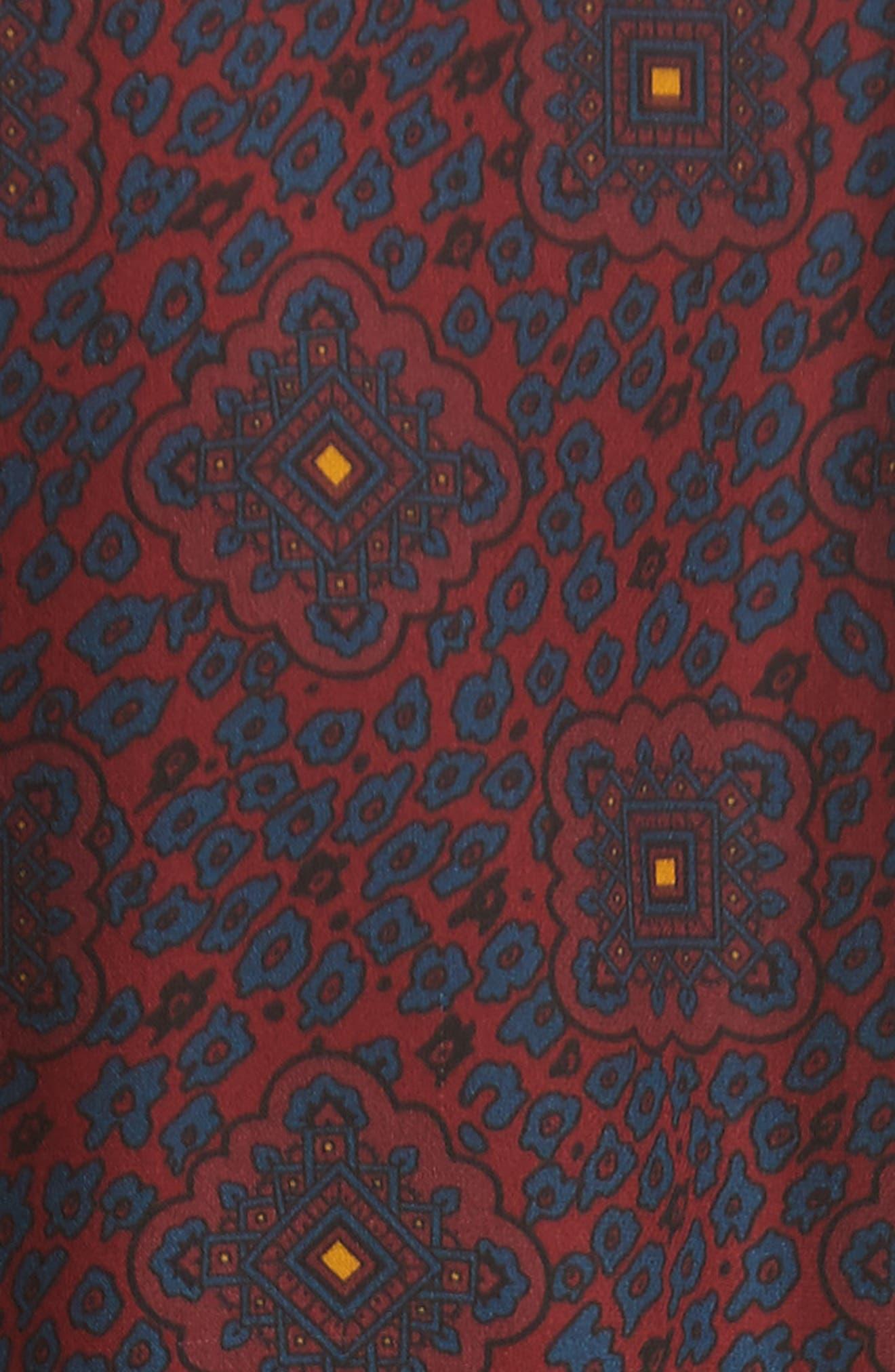 Lindberg Lace Trim Print Silk Blouse,                             Alternate thumbnail 5, color,