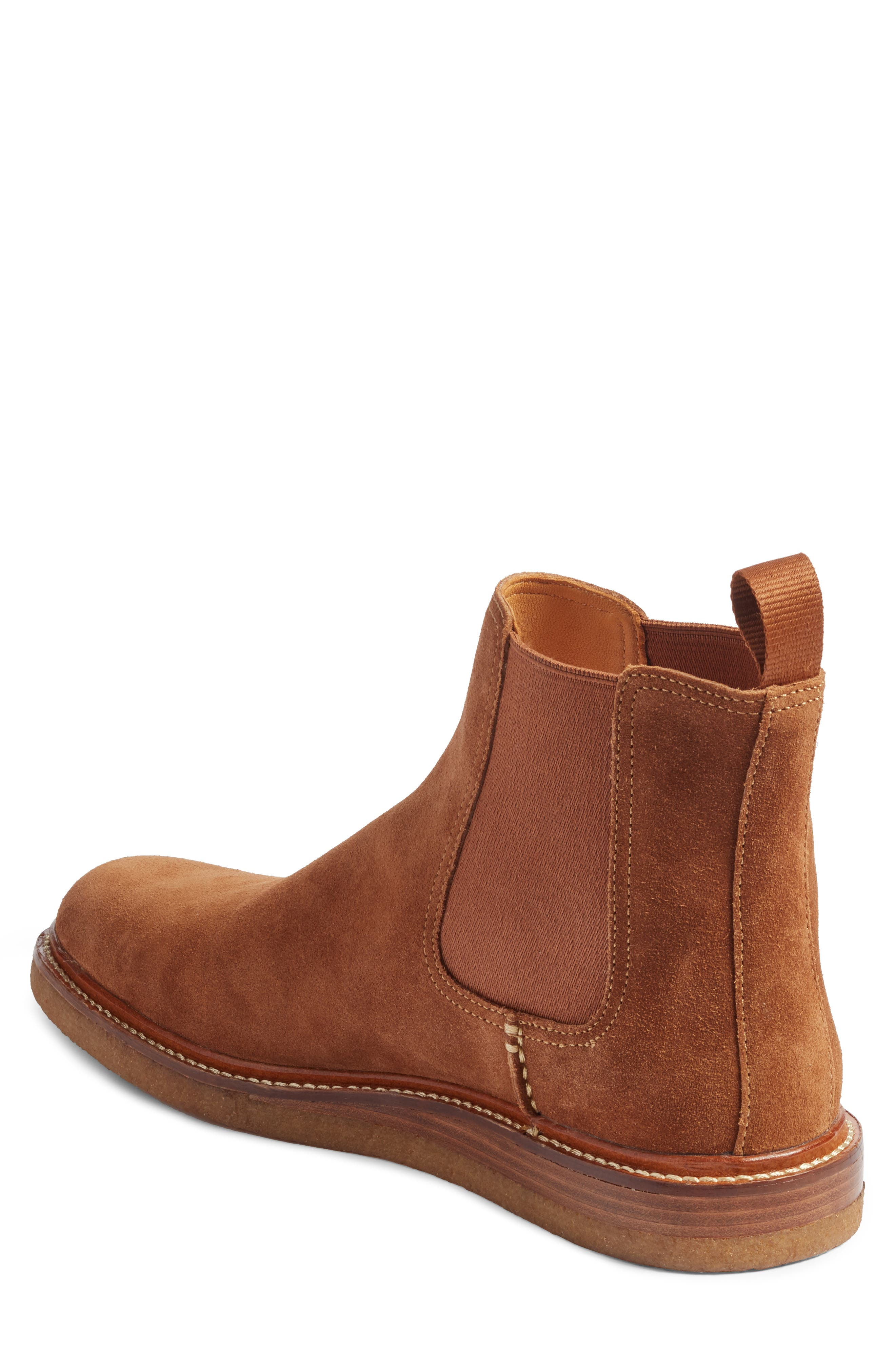 Leather Chelsea Boot,                             Alternate thumbnail 4, color,