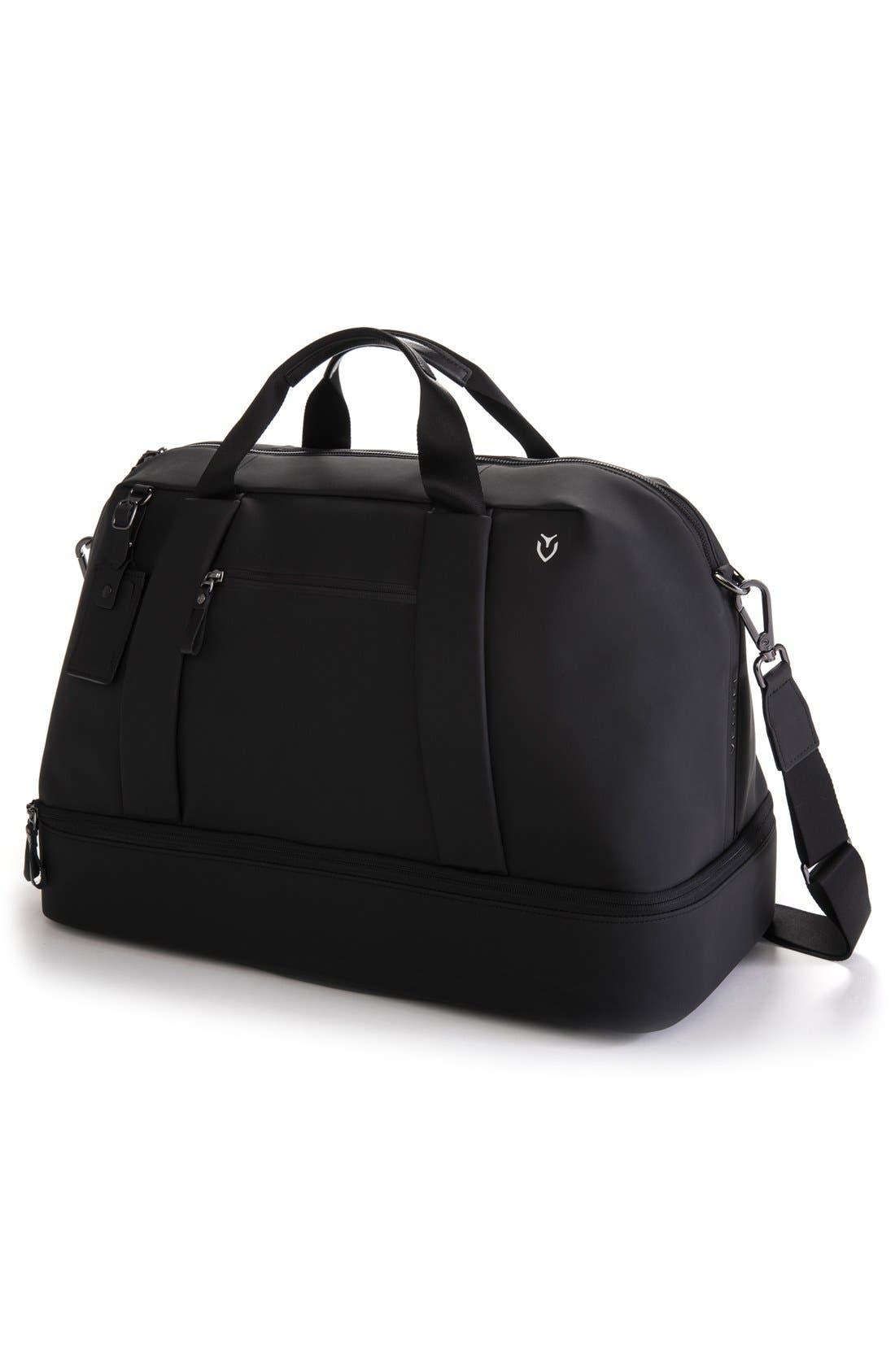 Signature Large Boston Duffel Bag,                             Alternate thumbnail 3, color,                             MATTE BLACK