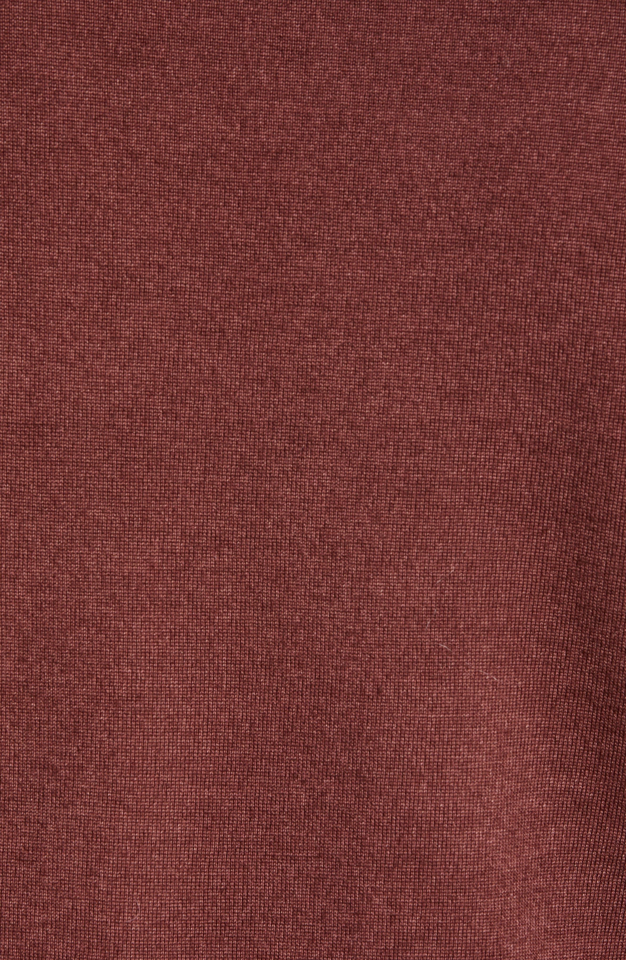 Trim Fit Newab Garment Dyed Wool Sweater,                             Alternate thumbnail 5, color,                             MAROON