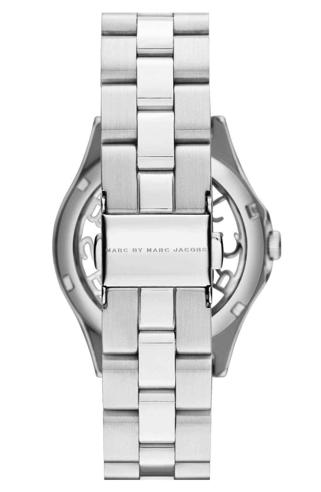 'Henry Skeleton' Bracelet Watch, 34mm,                             Alternate thumbnail 2, color,                             040