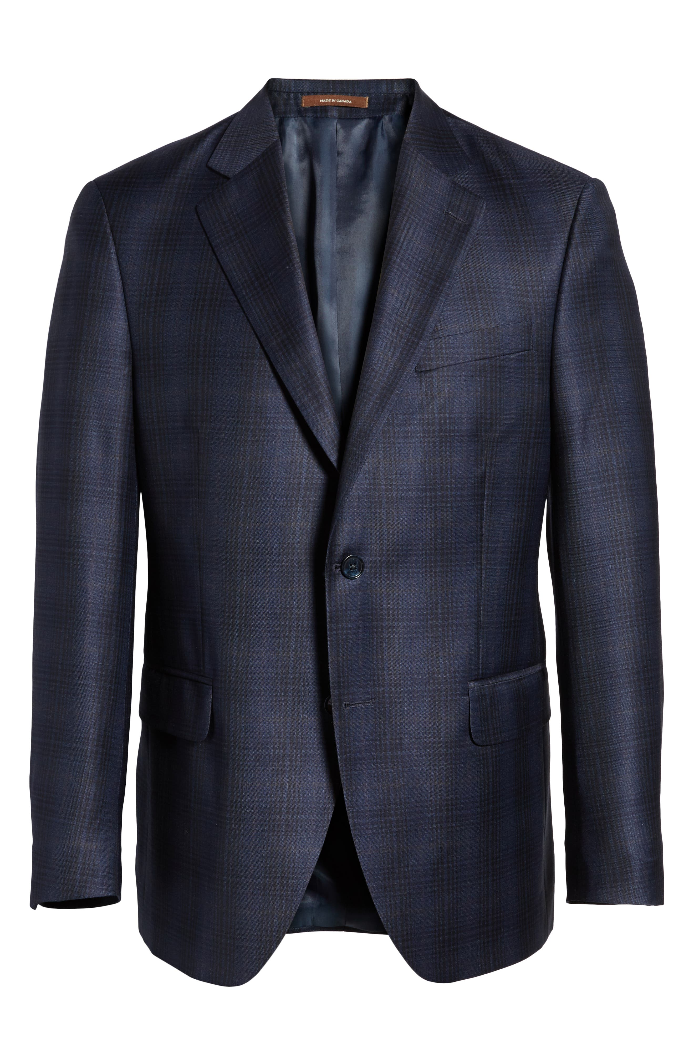 Classic Fit Plaid Wool Sport Coat,                             Alternate thumbnail 5, color,                             400