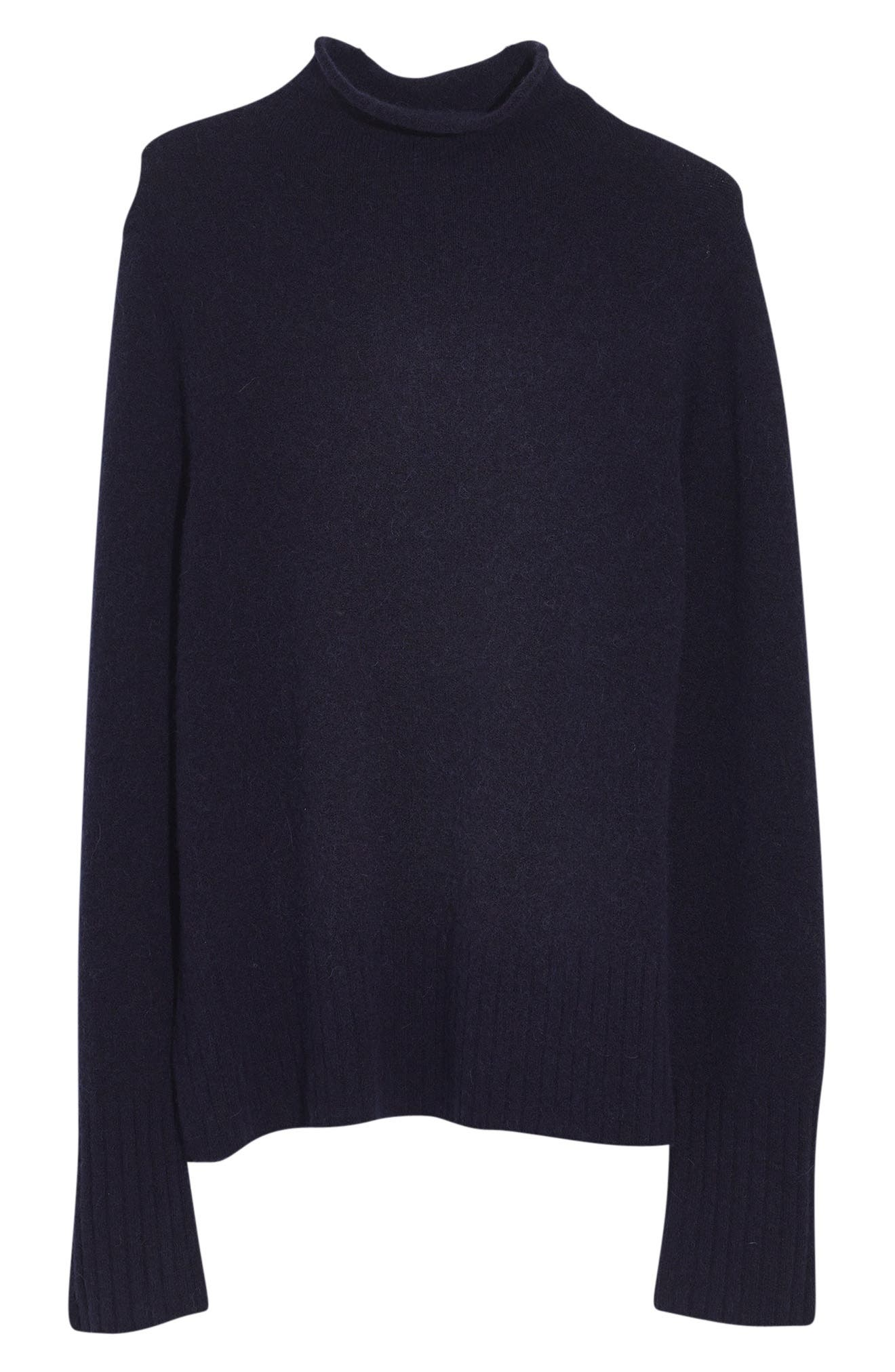 Inland Rolled Turtleneck Sweater,                             Main thumbnail 1, color,                             DARK INK