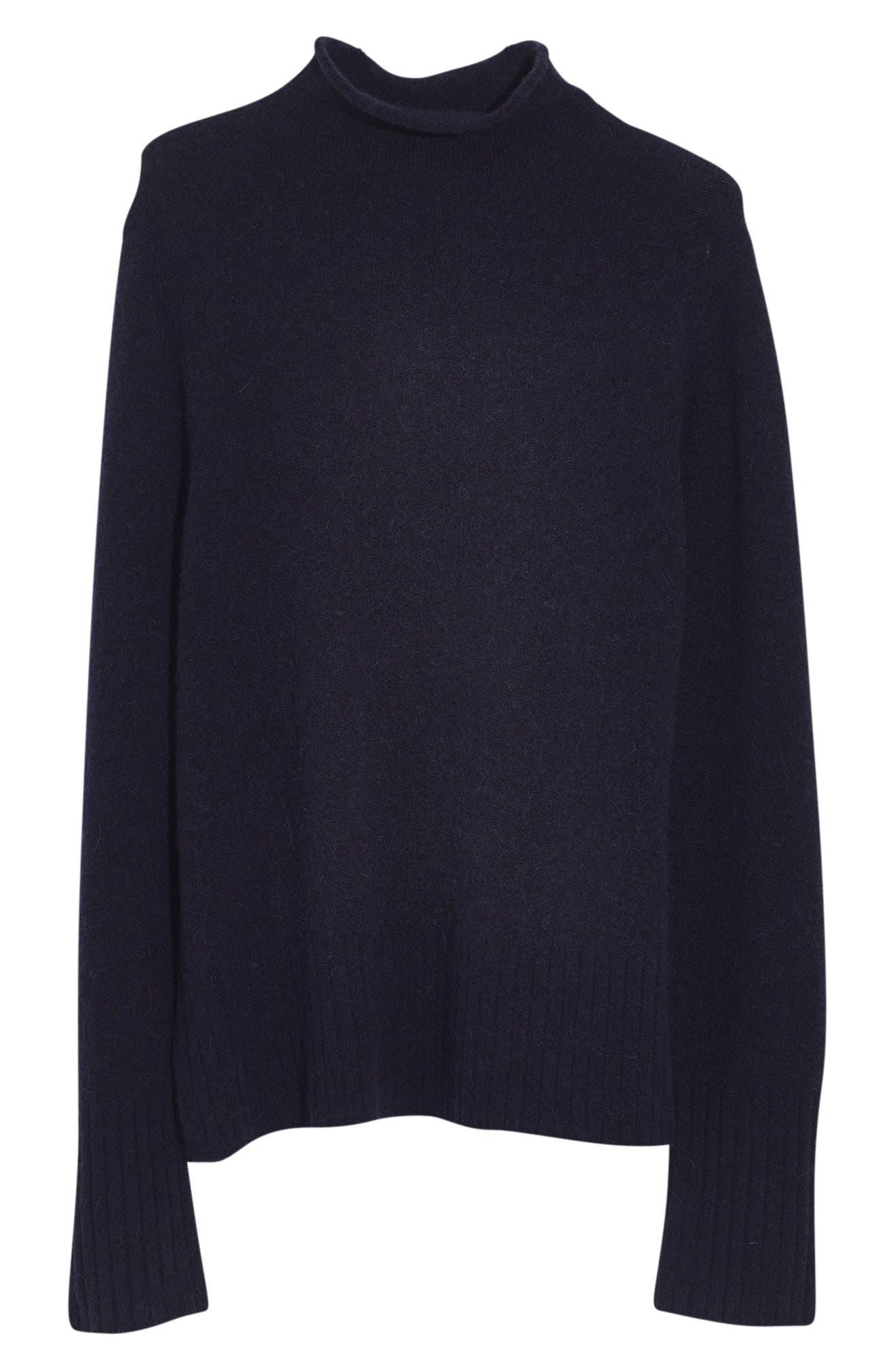 Inland Rolled Turtleneck Sweater,                         Main,                         color, DARK INK
