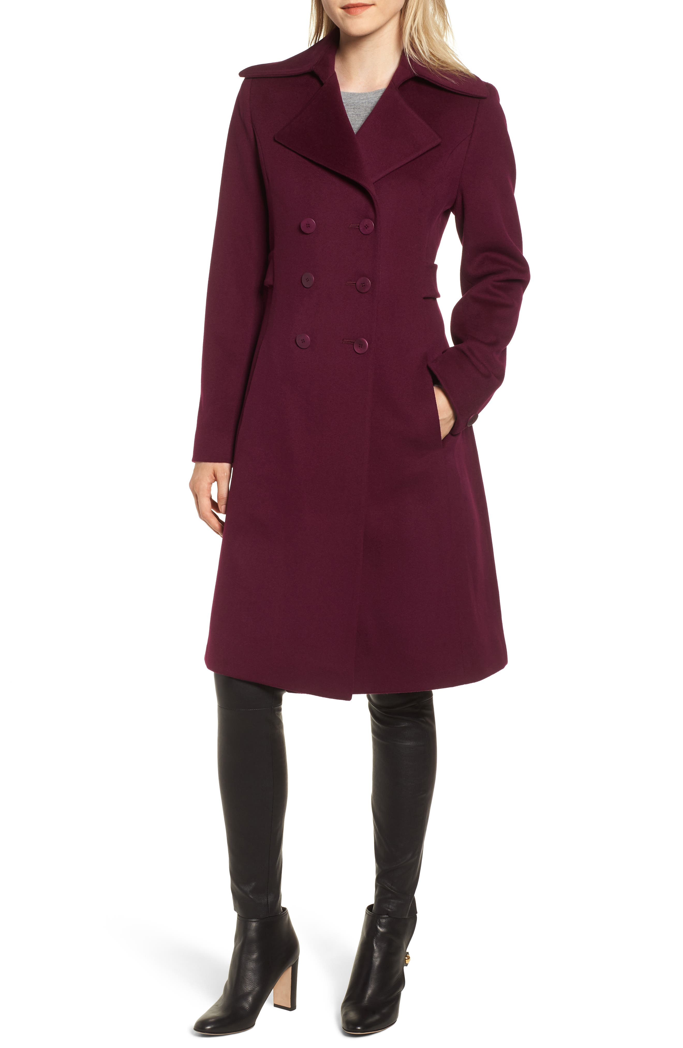 Double Breasted Loro Piana Wool Coat, Main, color, 600