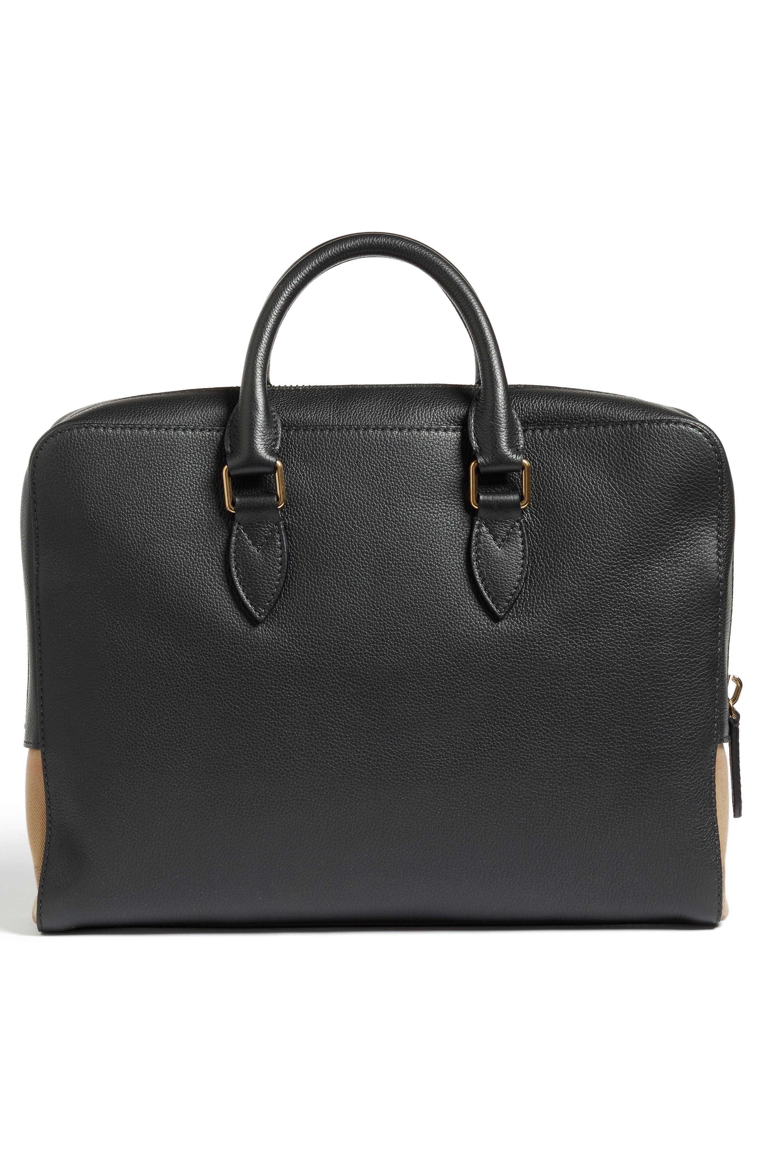 Horton Leather Briefcase,                             Alternate thumbnail 3, color,                             001