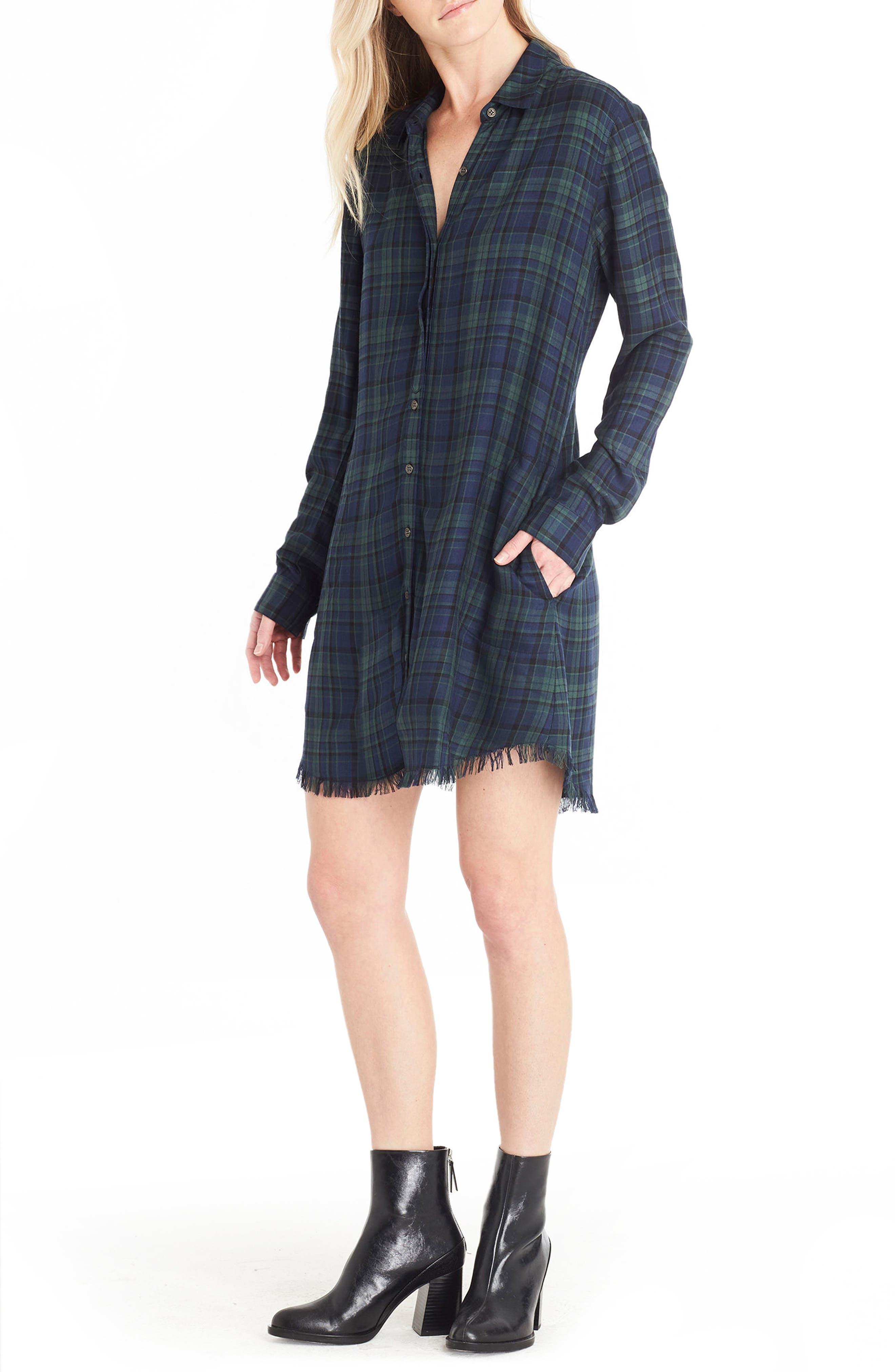 Plaid Shirtdress,                             Alternate thumbnail 3, color,                             405