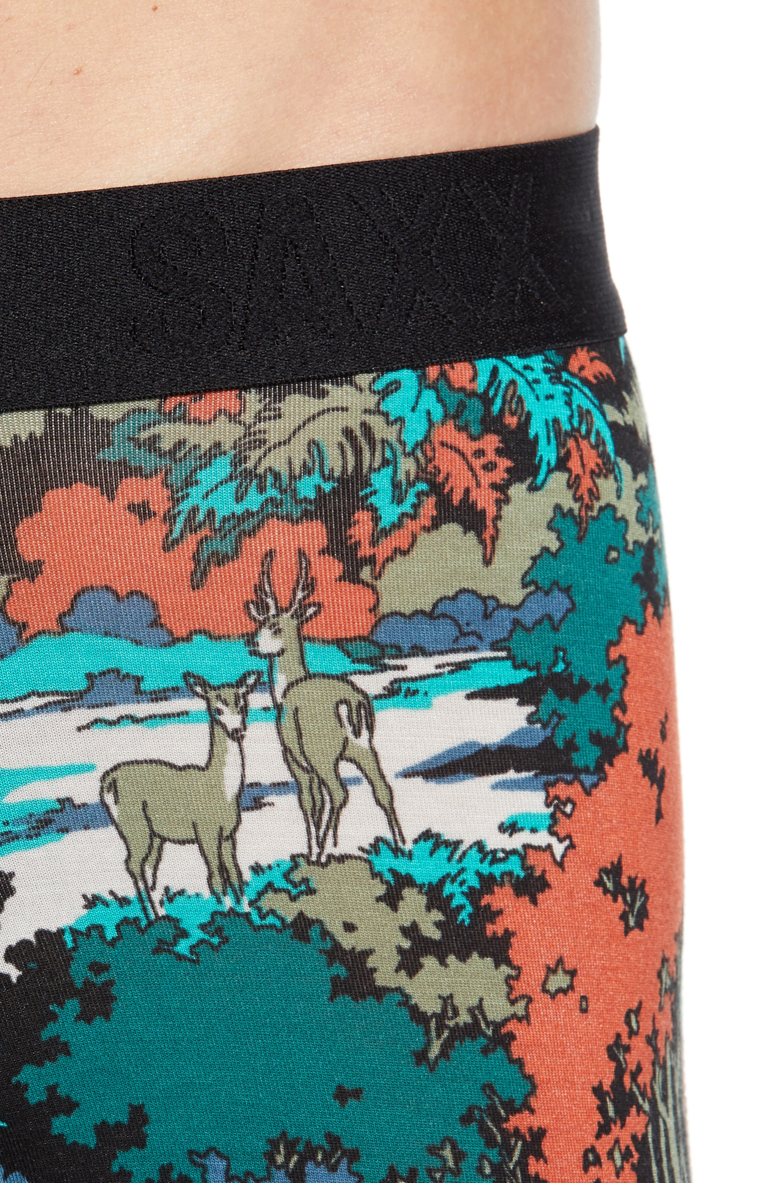 Vibe Deep Woods Trunks,                             Alternate thumbnail 4, color,                             TEAL DEEP WOODS