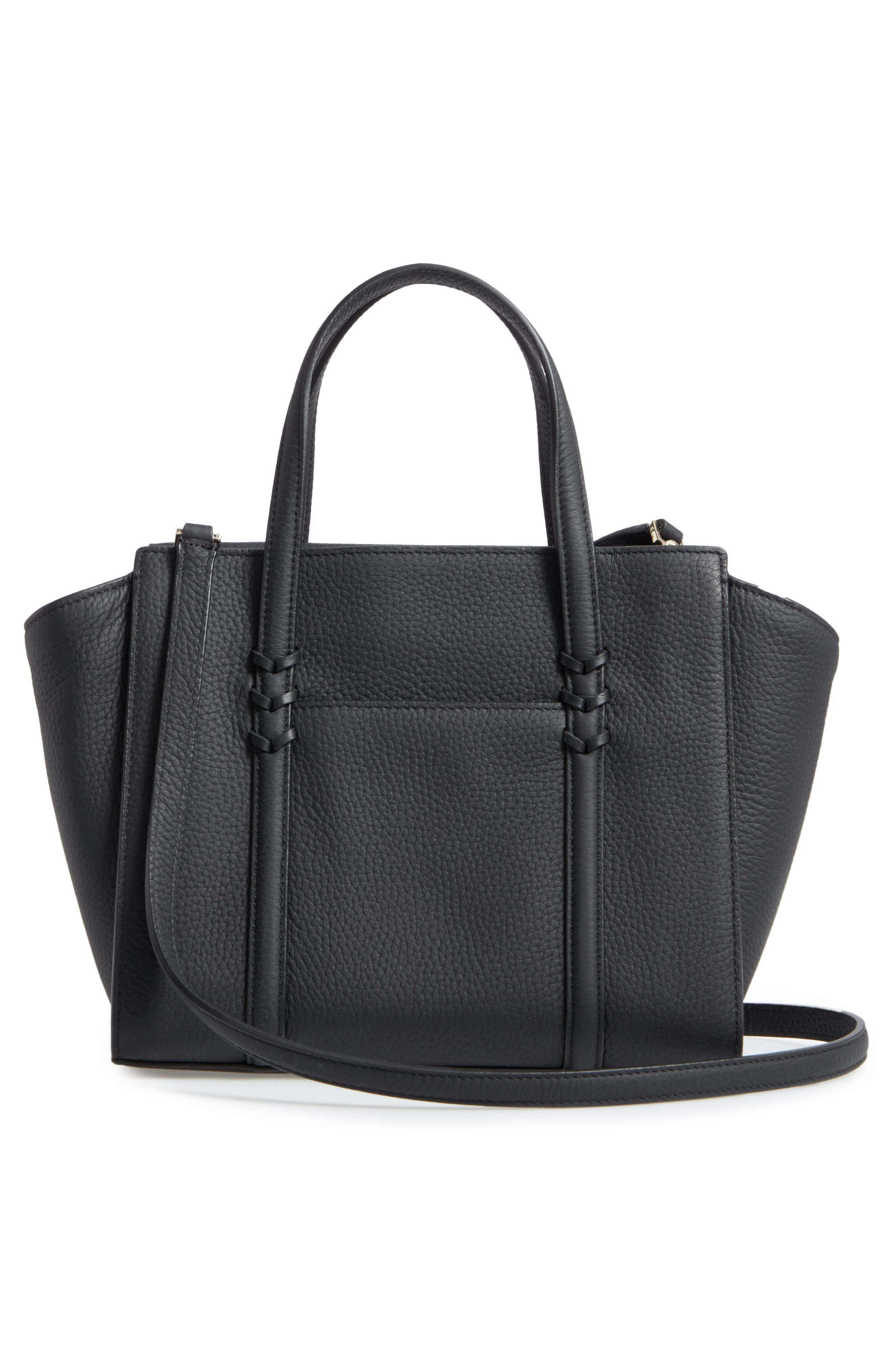 small madison daniels drive - abigail embellished leather tote,                             Alternate thumbnail 3, color,                             001