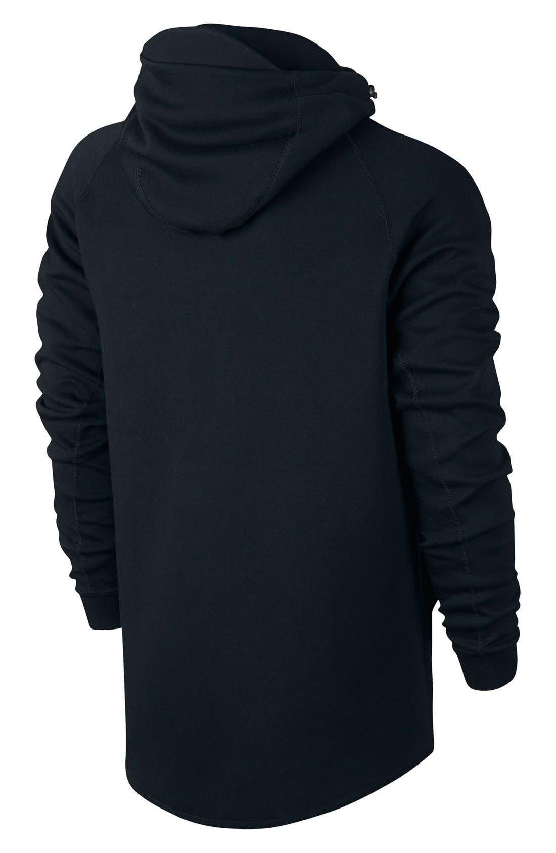 'Tech Fleece Hero' Full Zip Hoodie,                             Alternate thumbnail 6, color,                             010