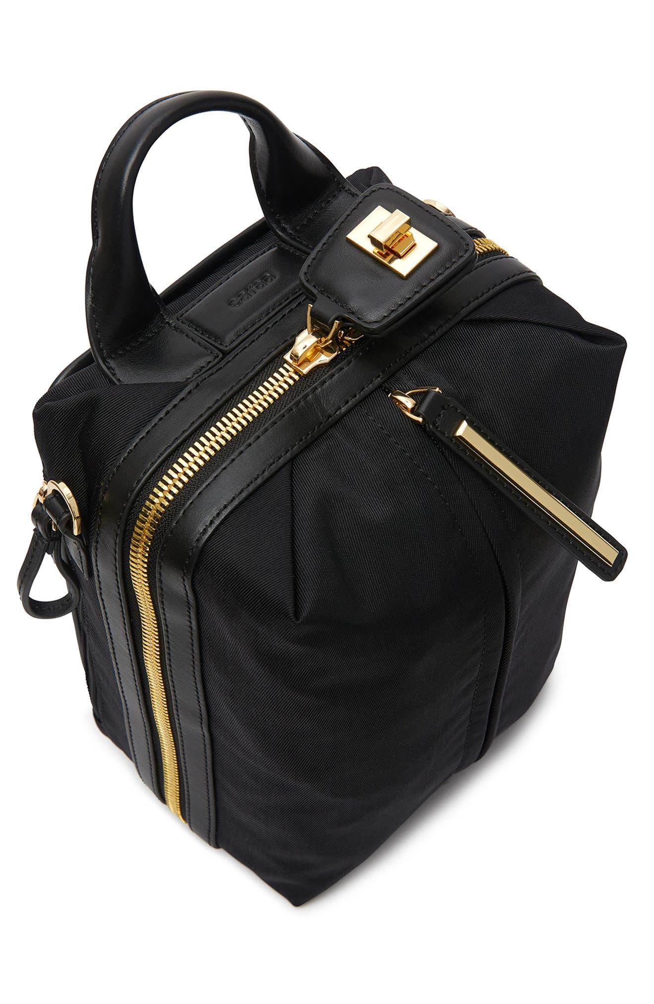 Studio 2 Mini Duffel Bag,                             Alternate thumbnail 6, color,                             BLACK GOLD