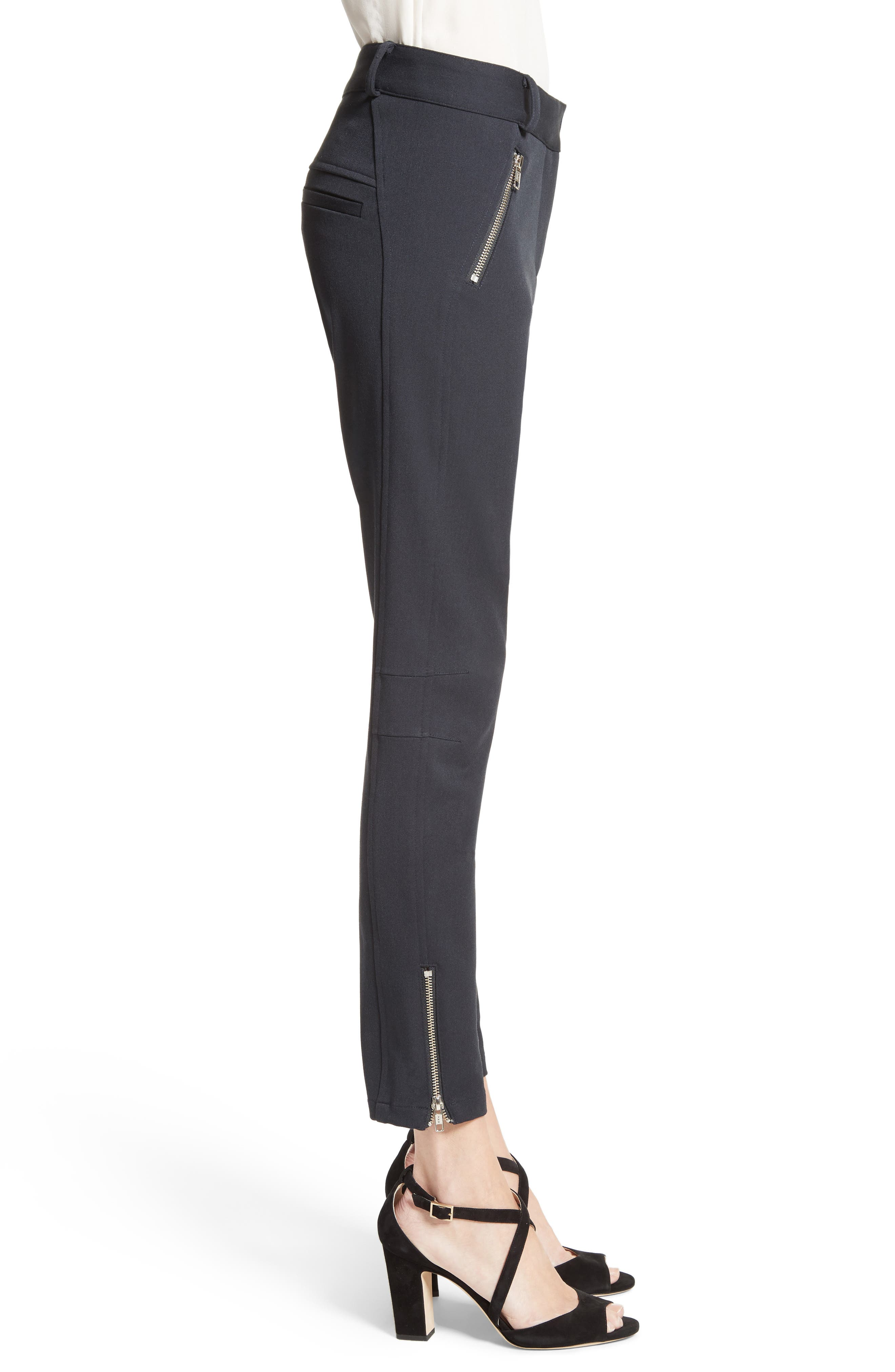 Ash Seamed Skinny Pants,                             Alternate thumbnail 3, color,                             001