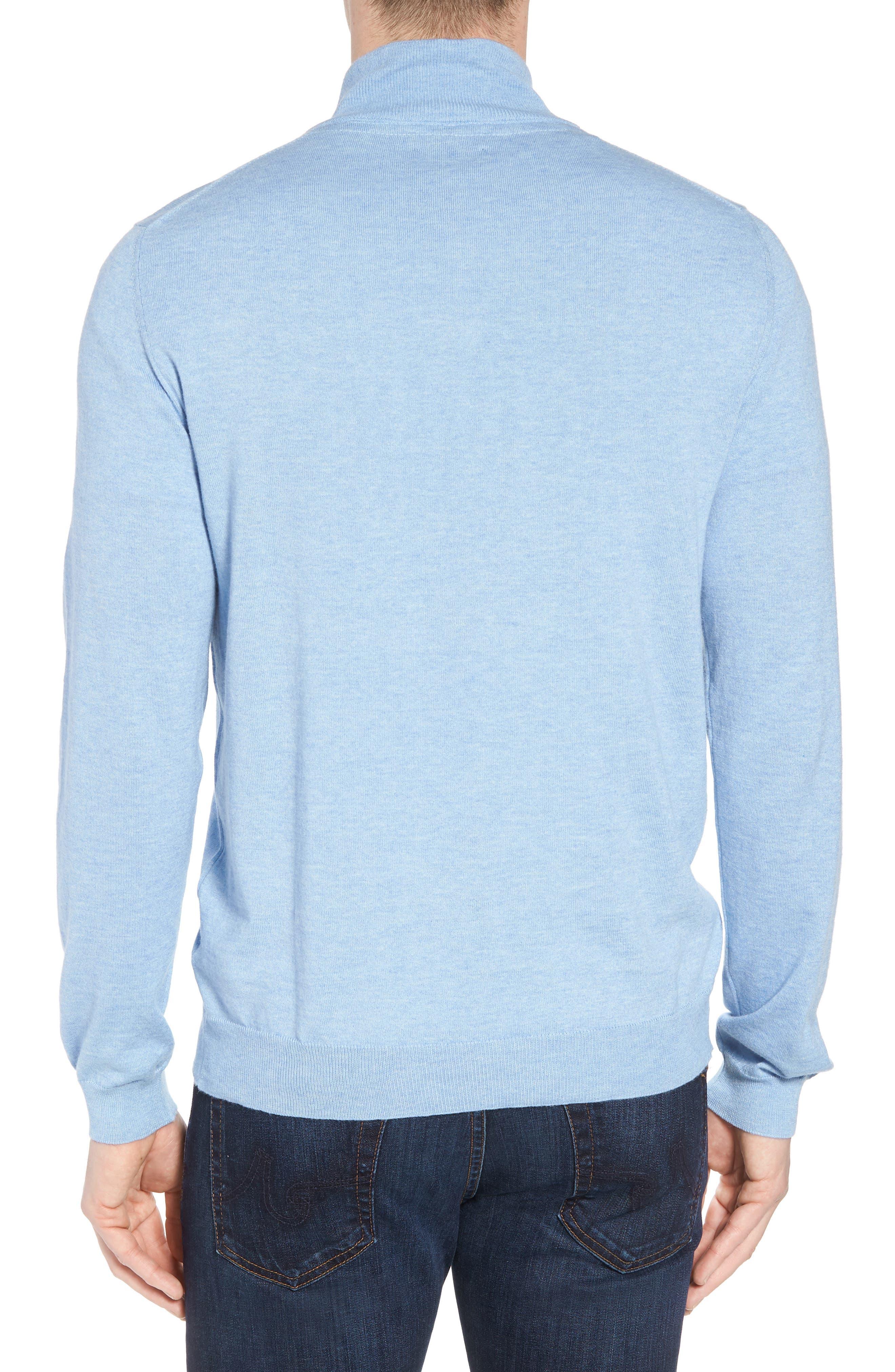 Cotton & Silk Quarter Zip Pullover,                             Alternate thumbnail 2, color,                             454