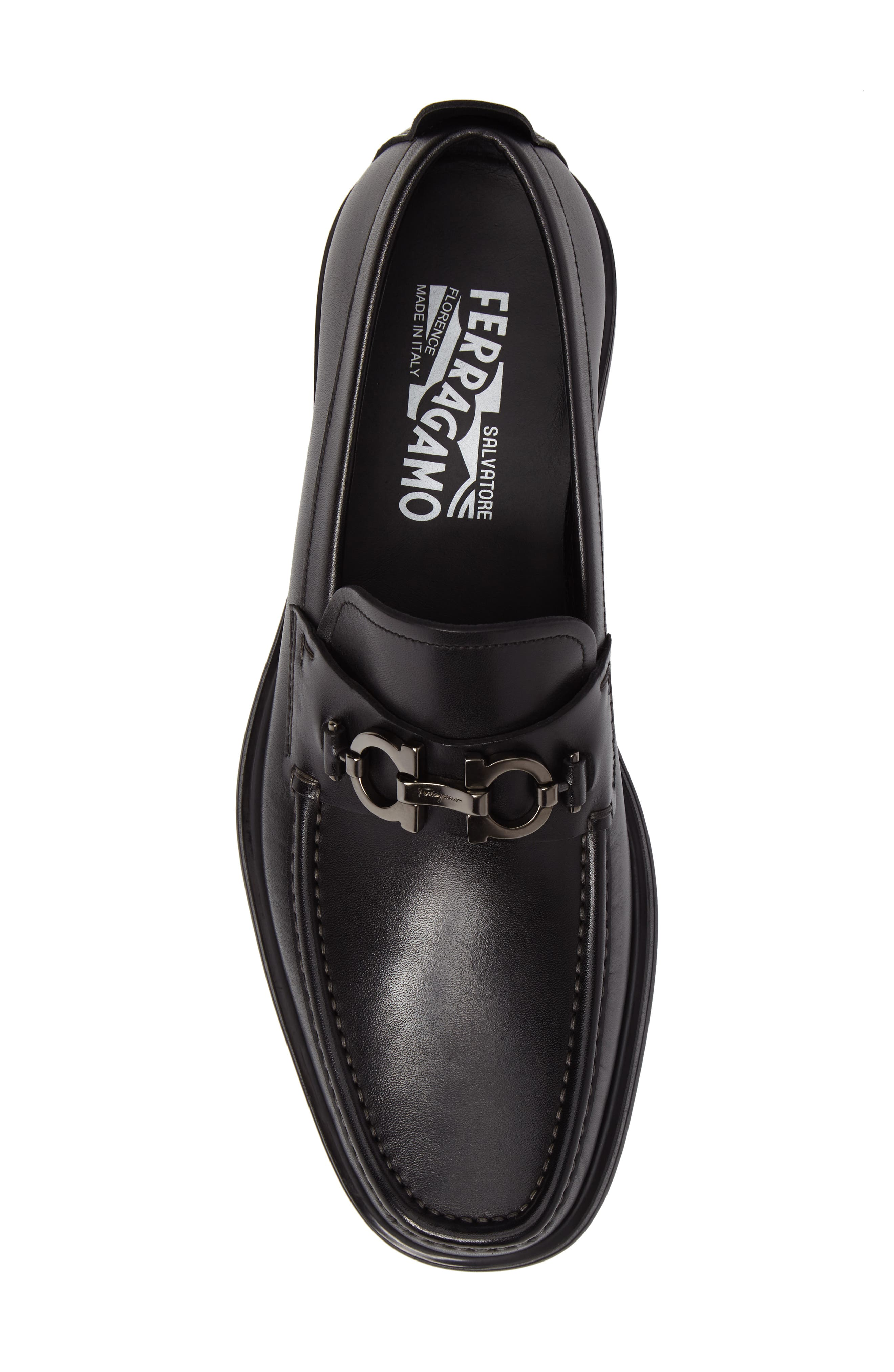 David Bit Loafer,                             Alternate thumbnail 5, color,                             BLACK LEATHER