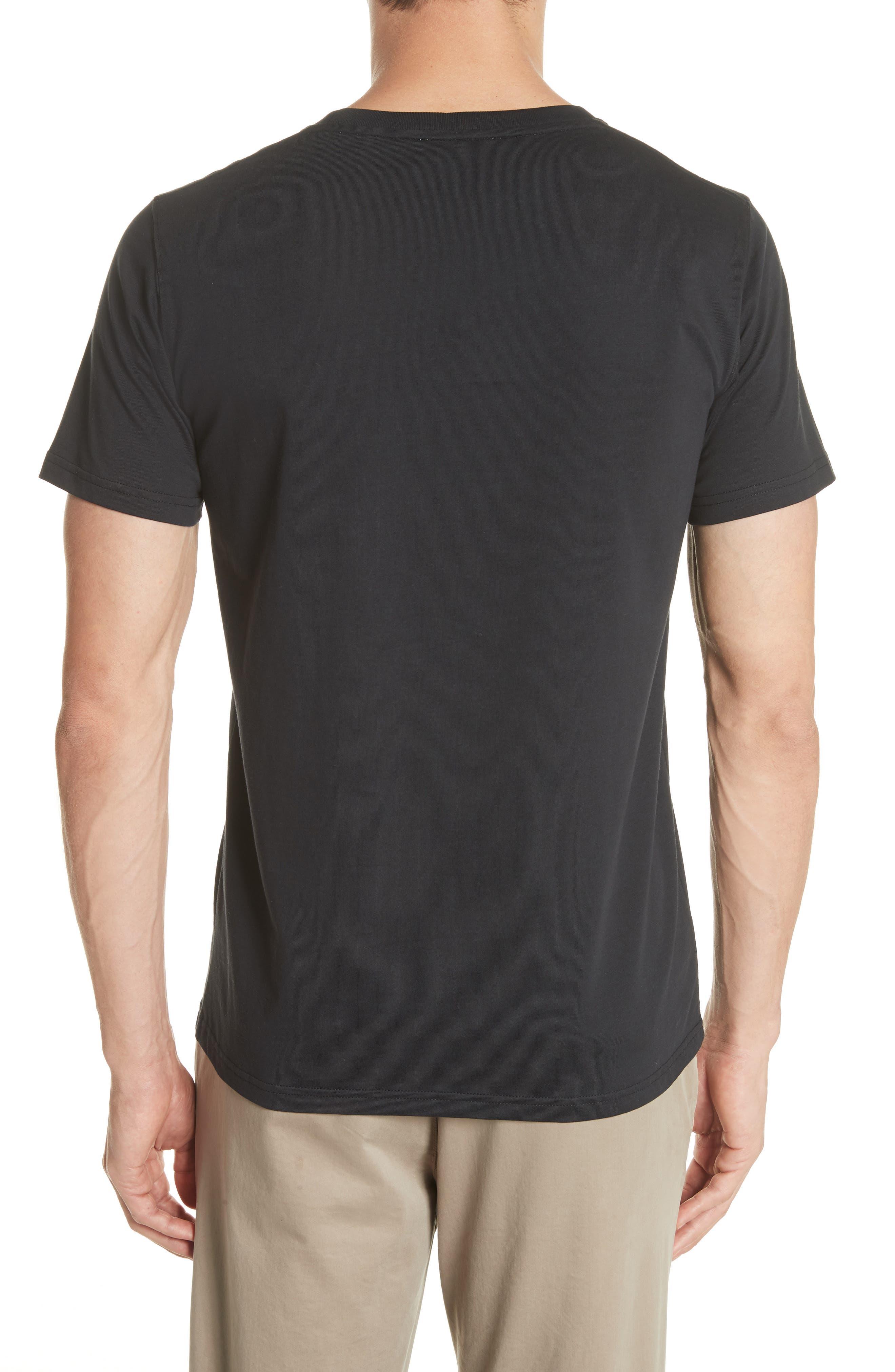 Niels Crewneck T-Shirt,                             Alternate thumbnail 2, color,                             001