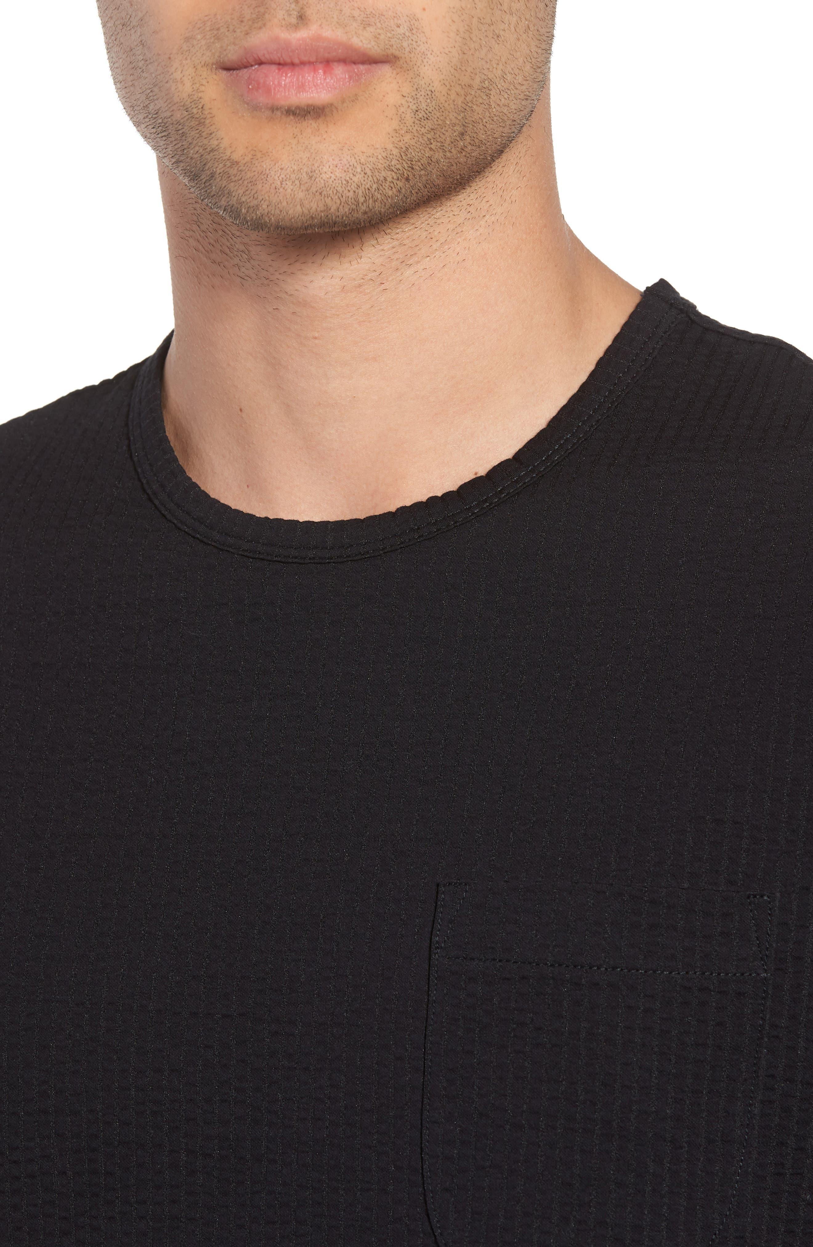 Japanese Seersucker T-Shirt,                             Alternate thumbnail 4, color,                             001