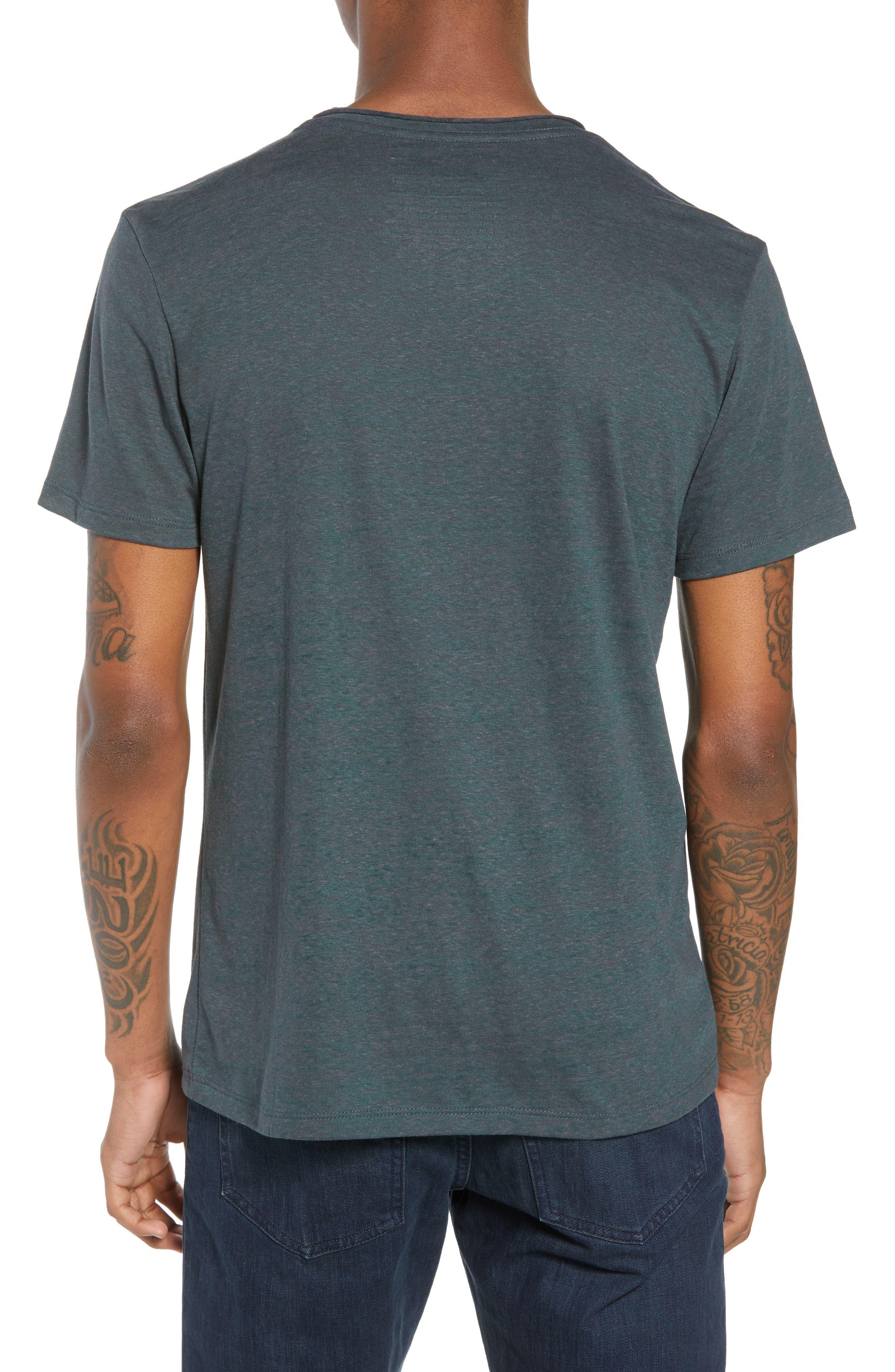 Burnout Raw Edge V-Neck T-Shirt,                             Alternate thumbnail 2, color,                             310