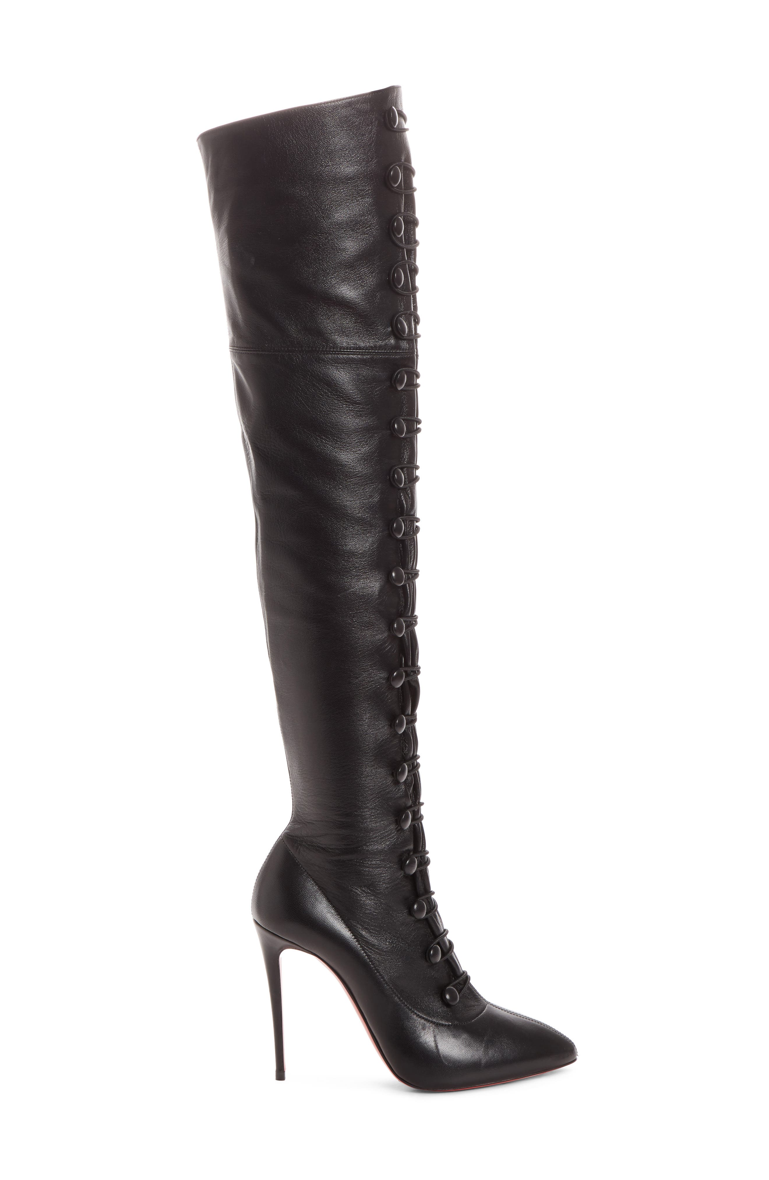 French Tutu Over the Knee Boot,                             Alternate thumbnail 3, color,                             001