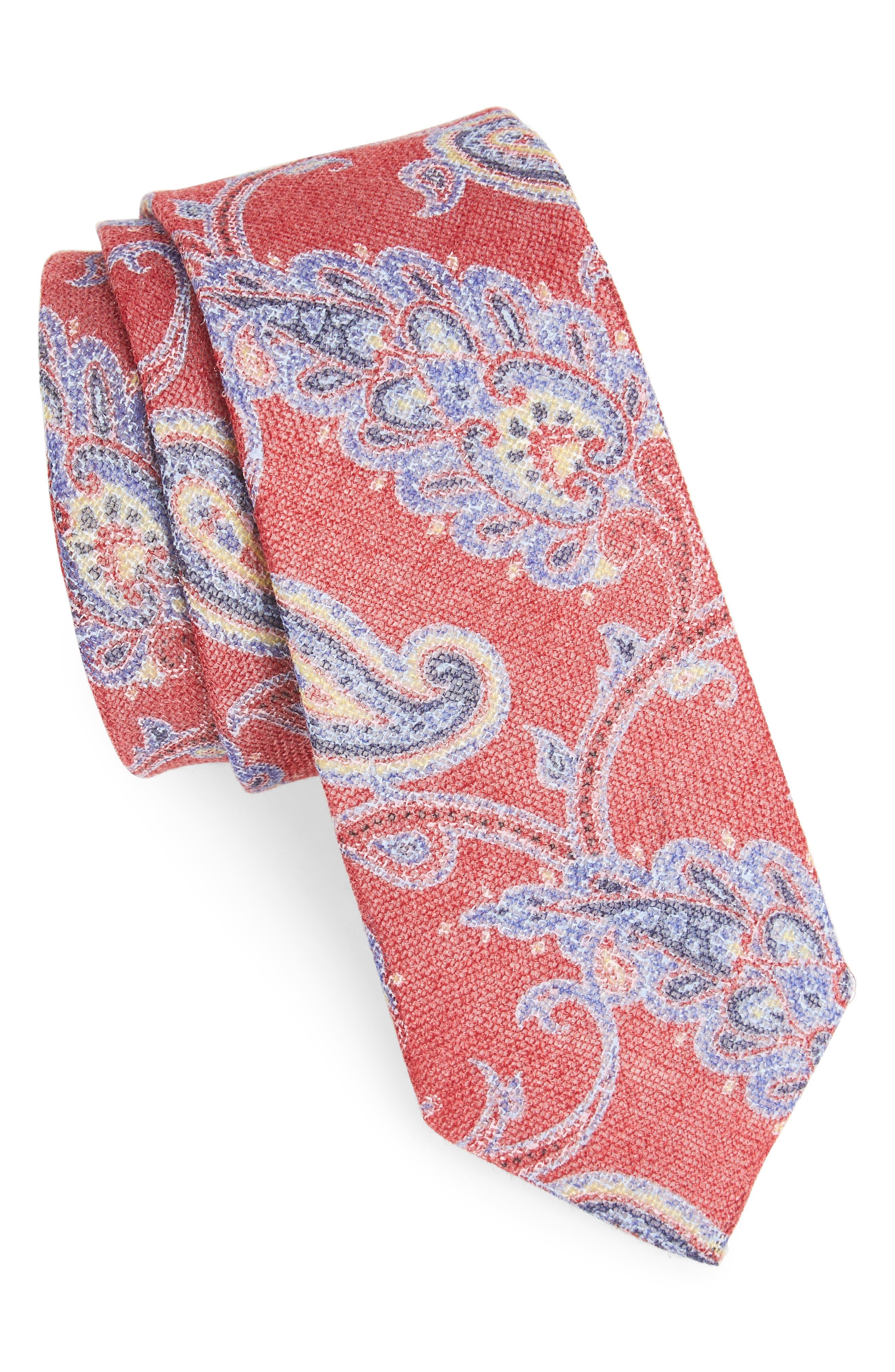 Bradford Paisley Skinny Tie,                             Main thumbnail 5, color,