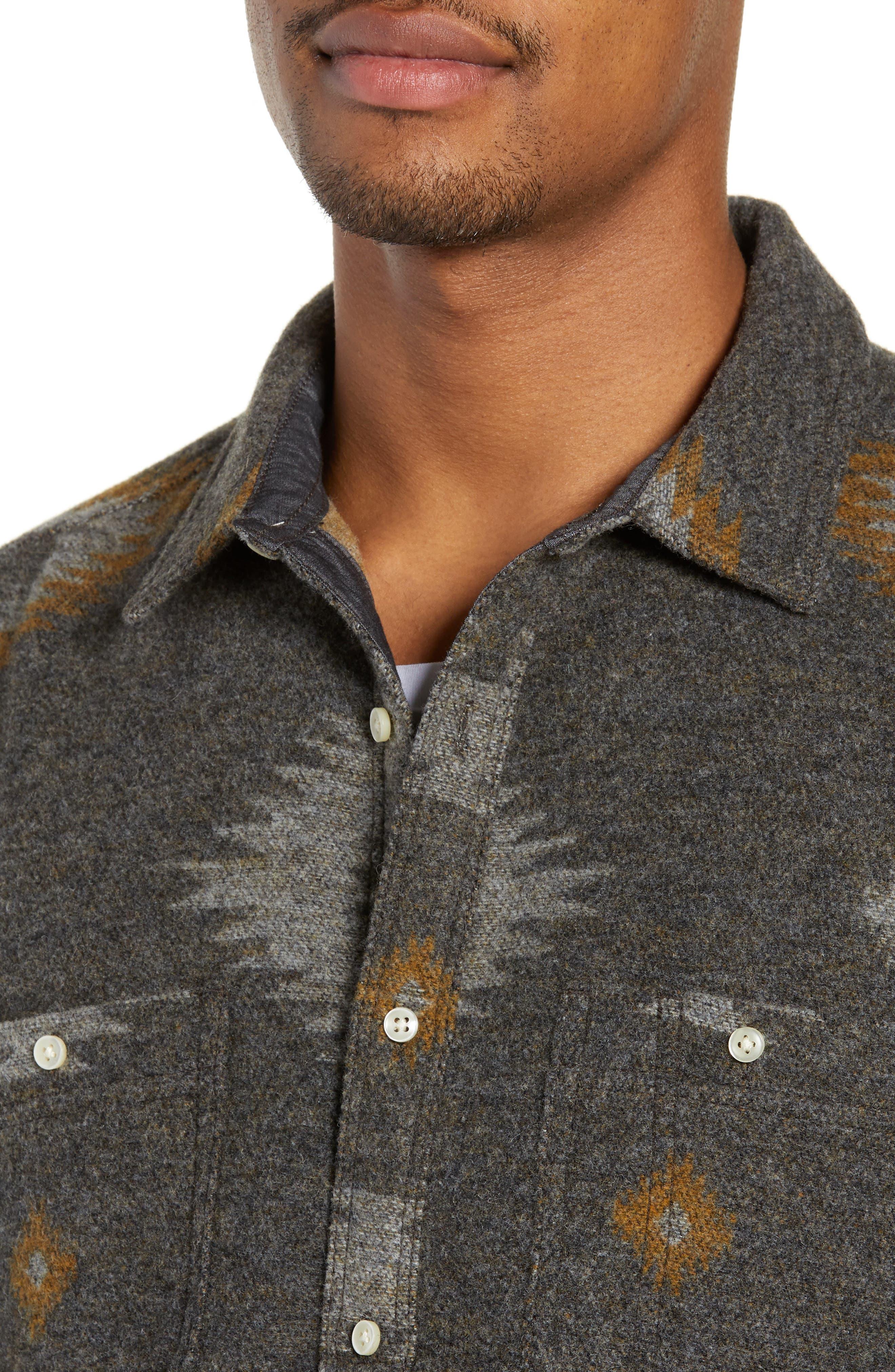 Warrior Regular Fit Wool Blend Shirt Jacket,                             Alternate thumbnail 2, color,                             HEATHER CHARCOAL