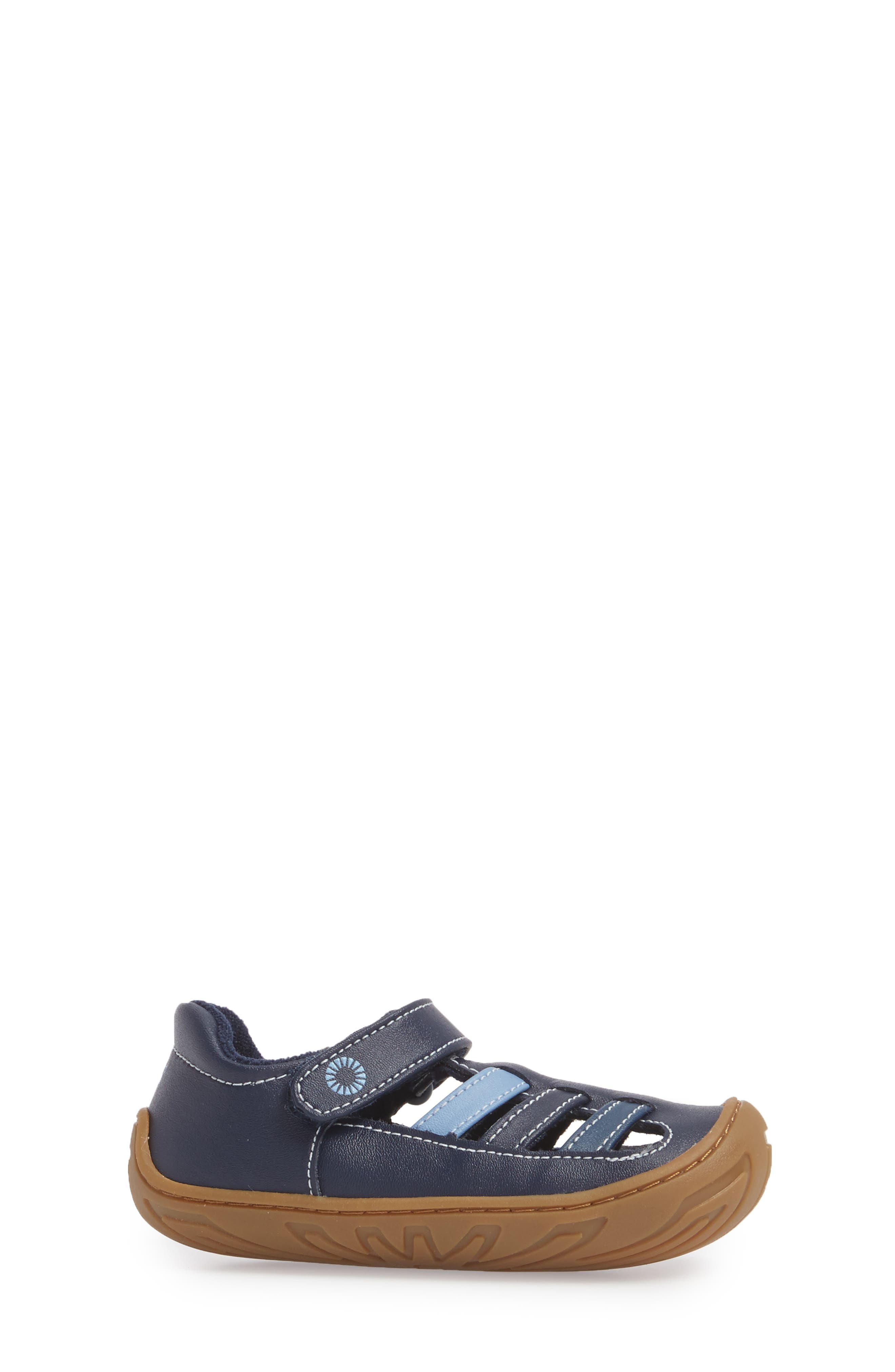 Santore Sandal,                             Alternate thumbnail 3, color,                             NAVY