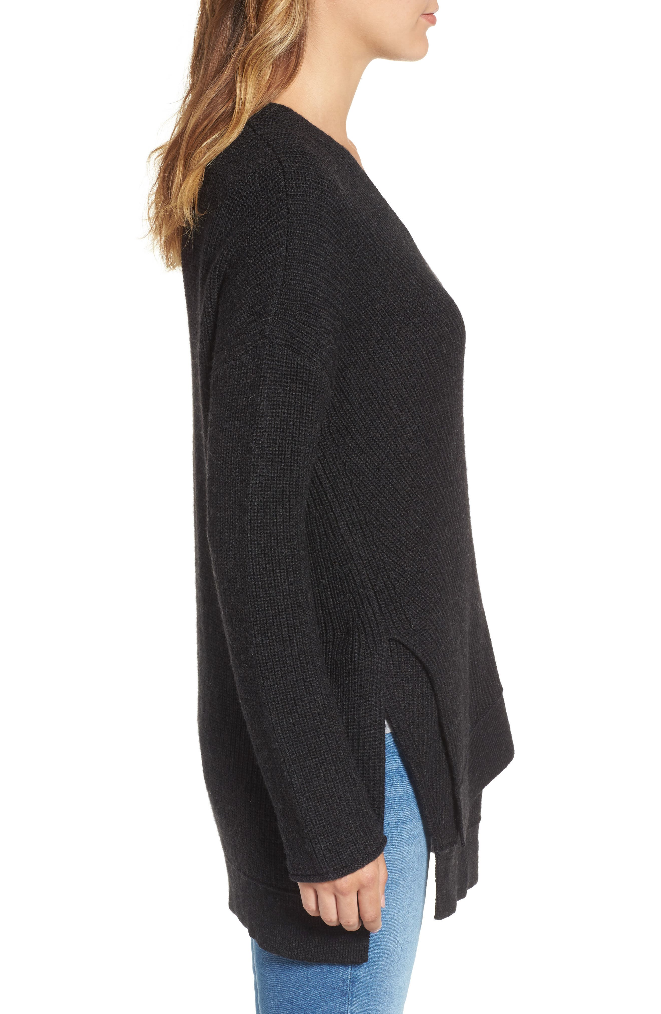 Side Tie Cardigan,                             Alternate thumbnail 5, color,