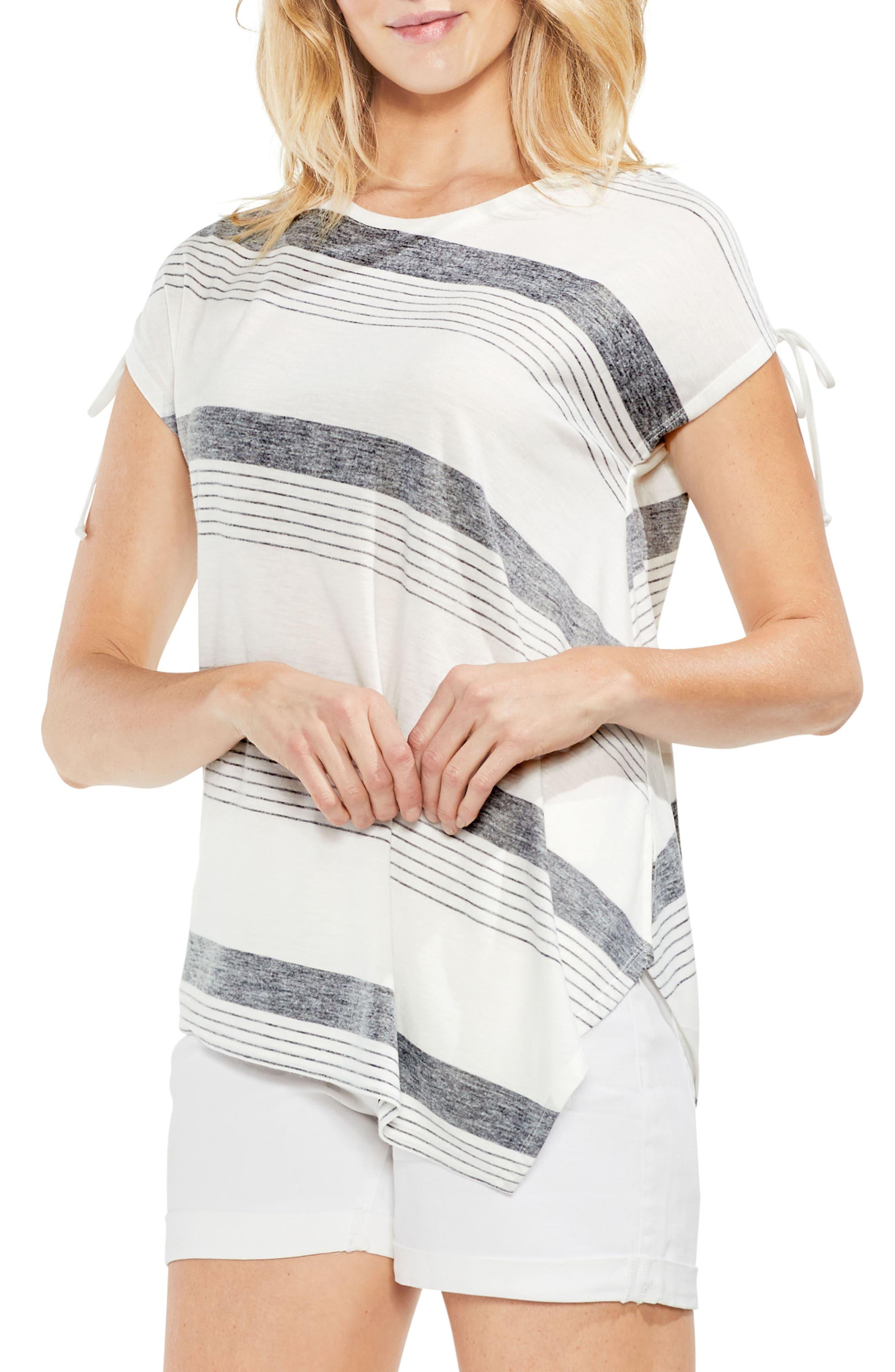 Stripe Asymmetrical Top,                             Main thumbnail 1, color,                             001