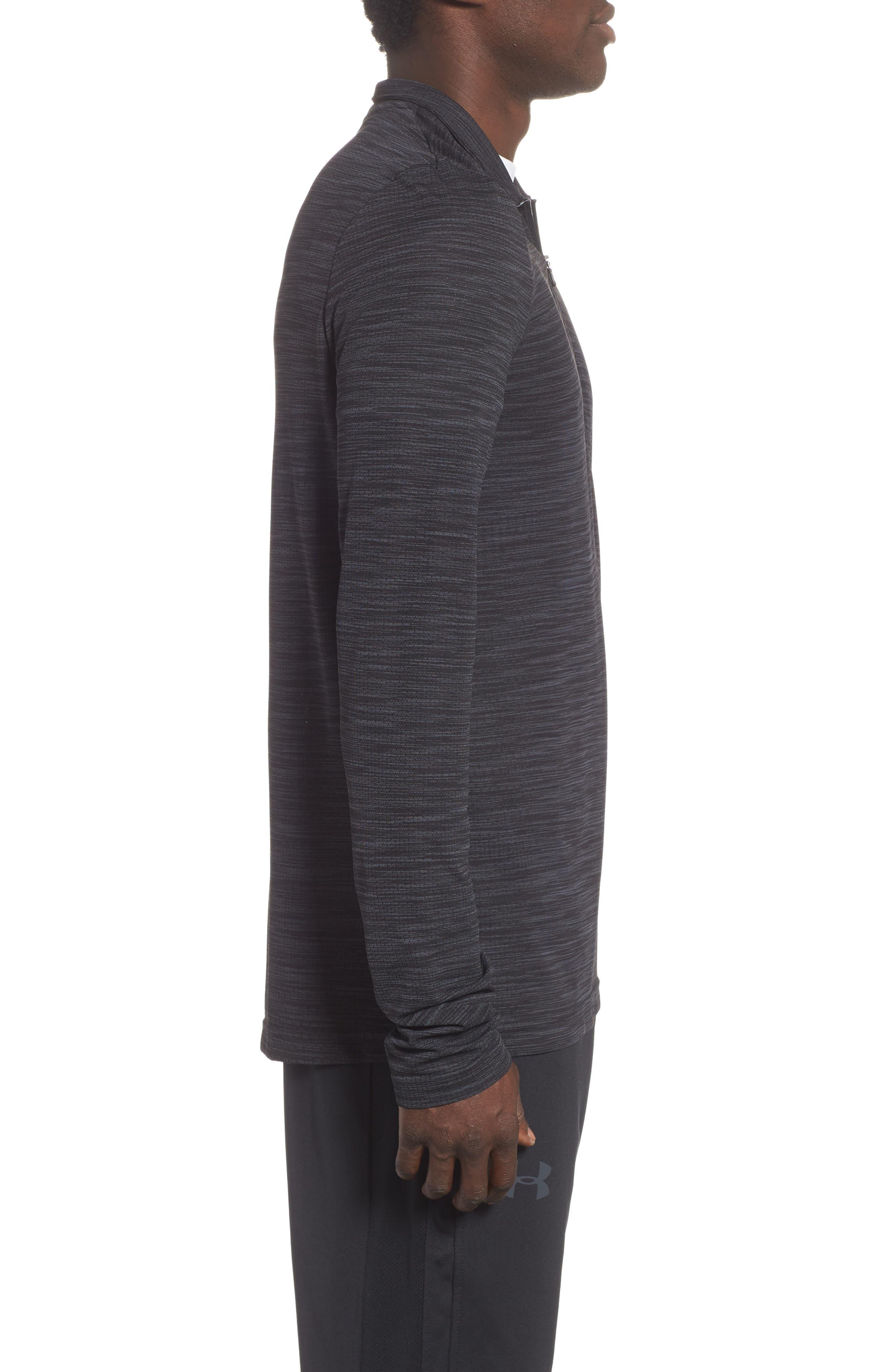 Siphon Regular Fit Half-Zip Pullover,                             Alternate thumbnail 3, color,                             BLACK