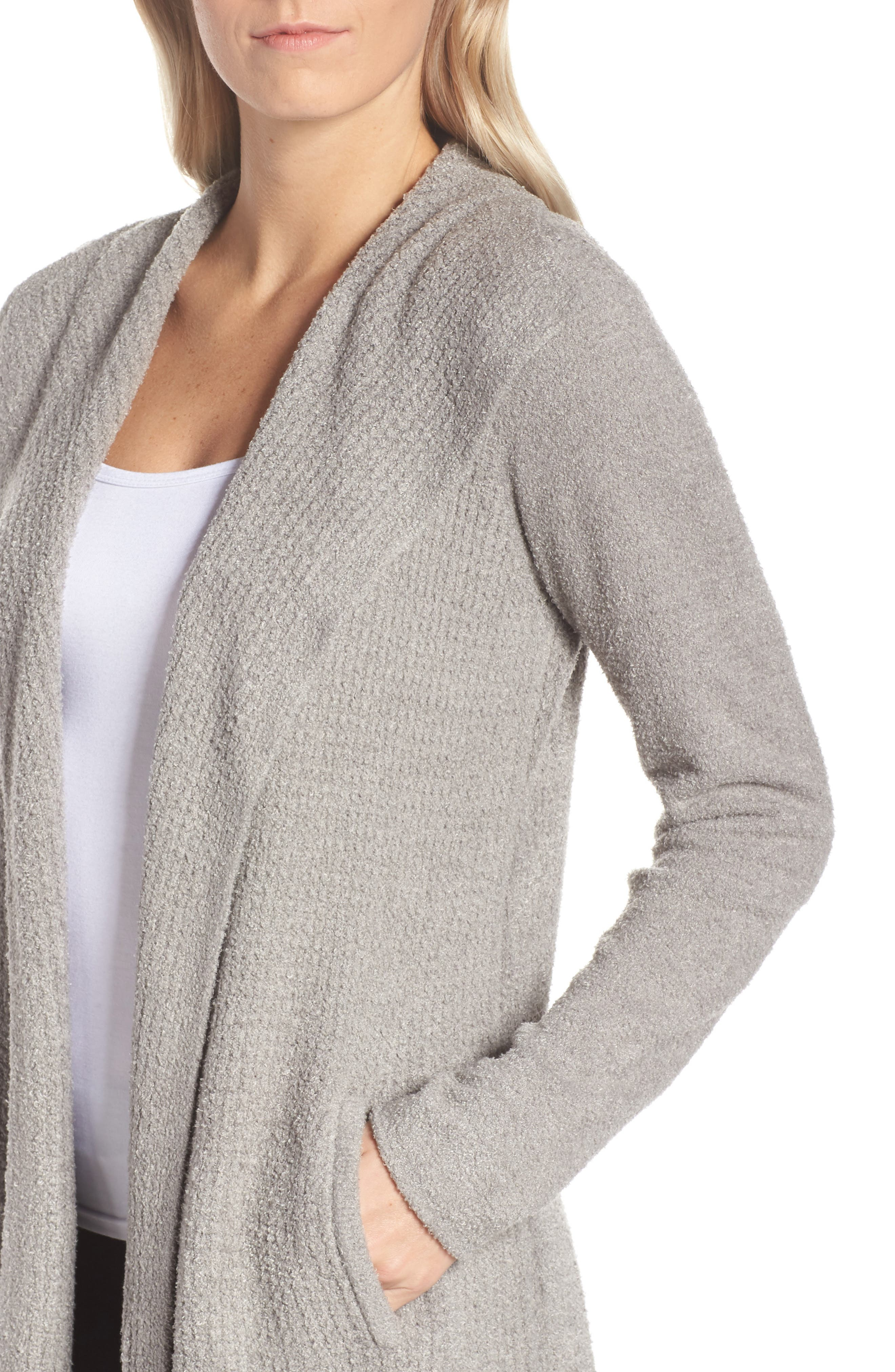 Cozychic<sup>®</sup> Lite Coastal Cardigan,                             Alternate thumbnail 4, color,                             PEWTER