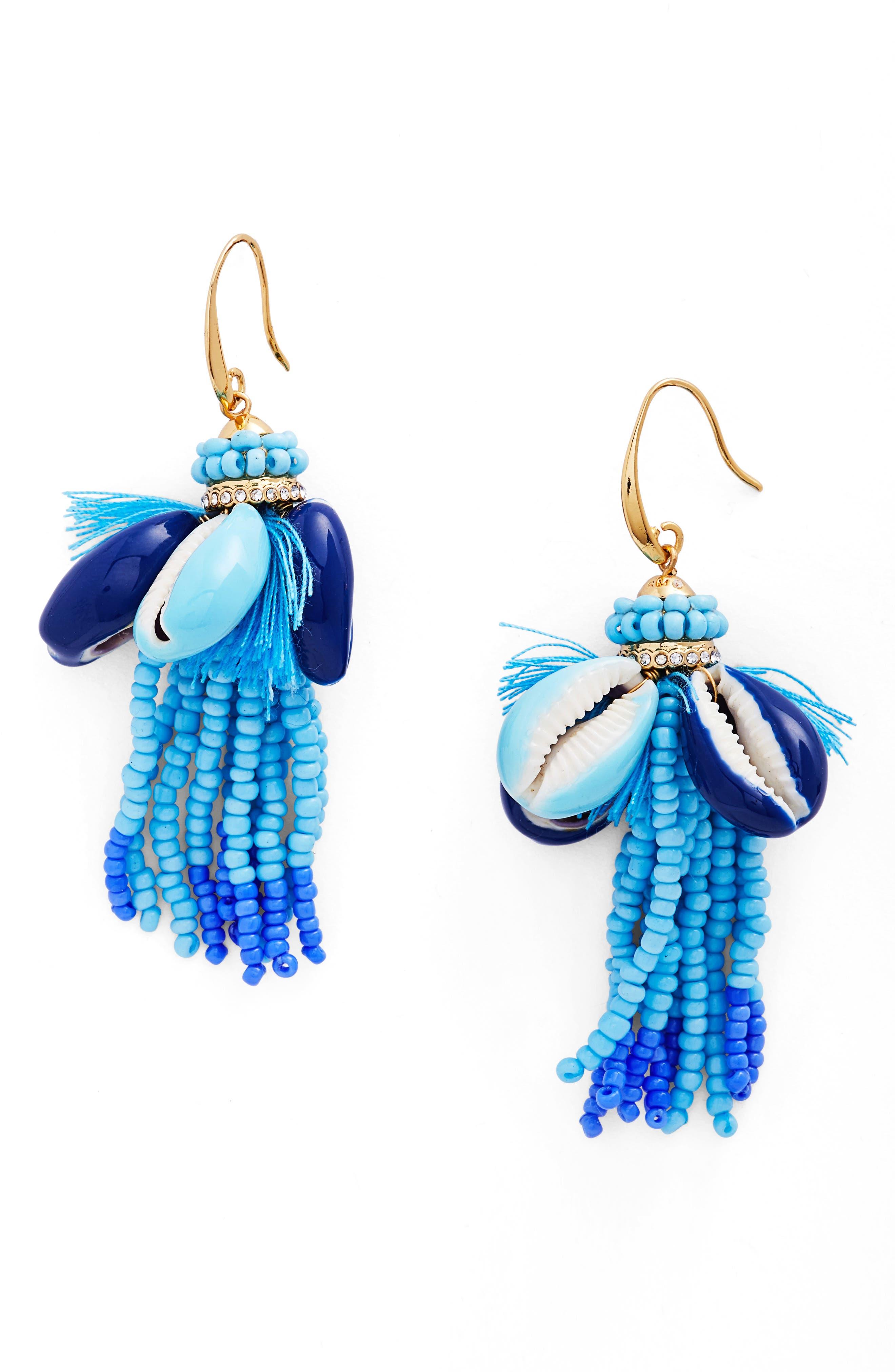 Lola Seed Bead Tassel Earrings,                             Main thumbnail 1, color,                             400