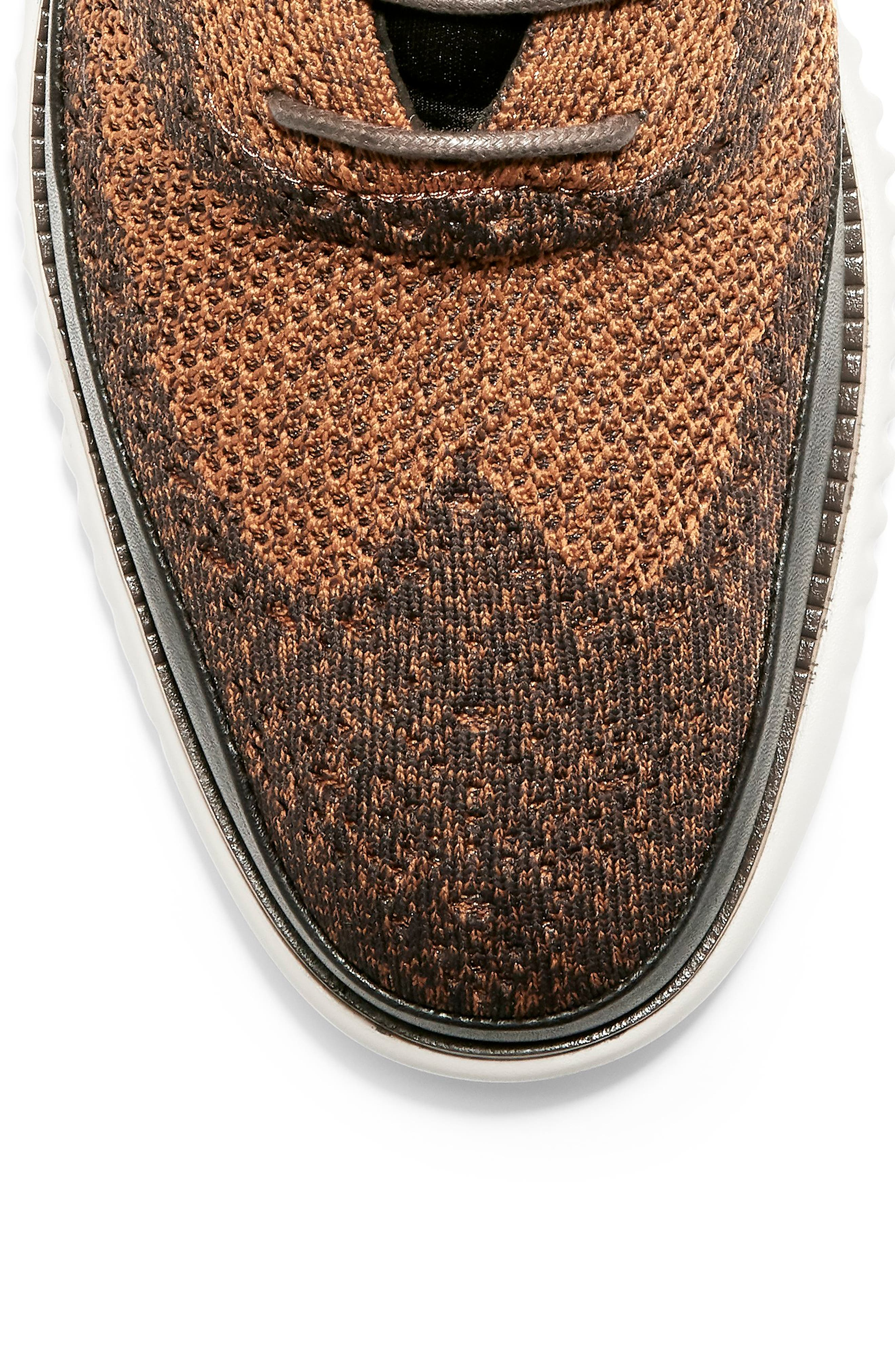 2.ZeroGrand Stitchlite Water Resistant Chukka Boot,                             Alternate thumbnail 7, color,                             BROWN HEATHERED KNIT