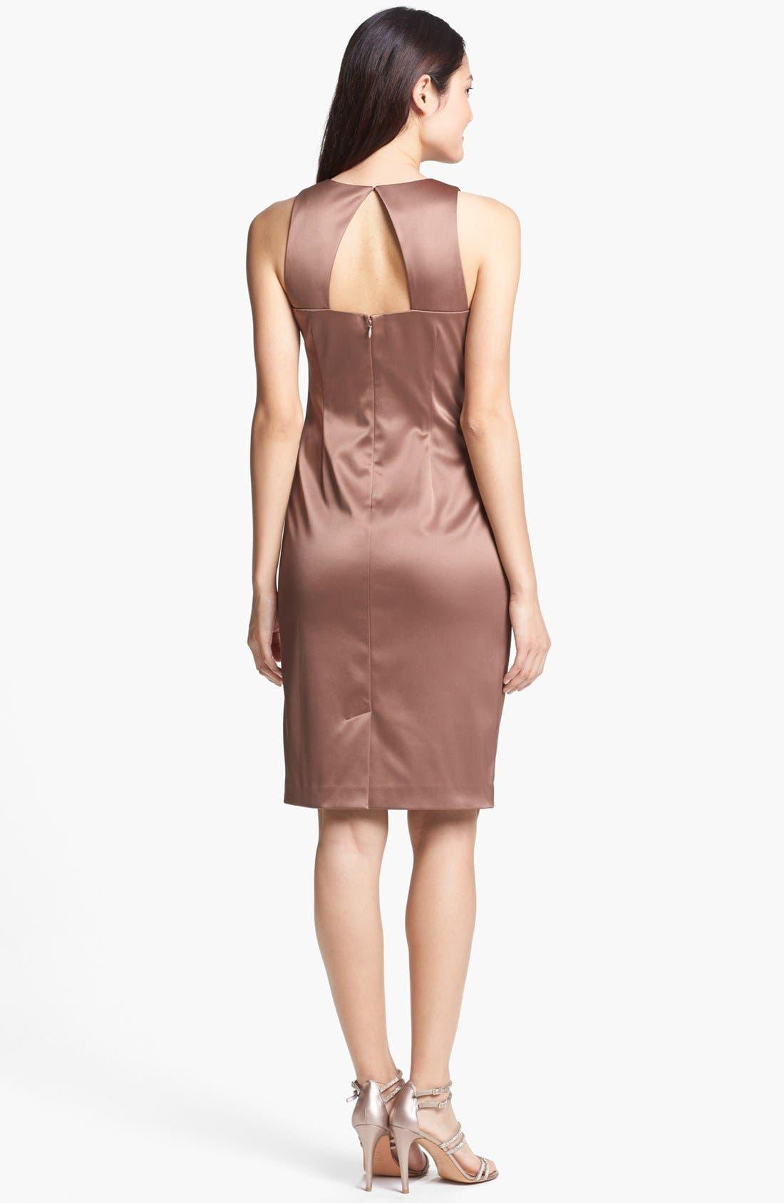 Embellished Side Ruched Sheath Dress,                             Alternate thumbnail 6, color,