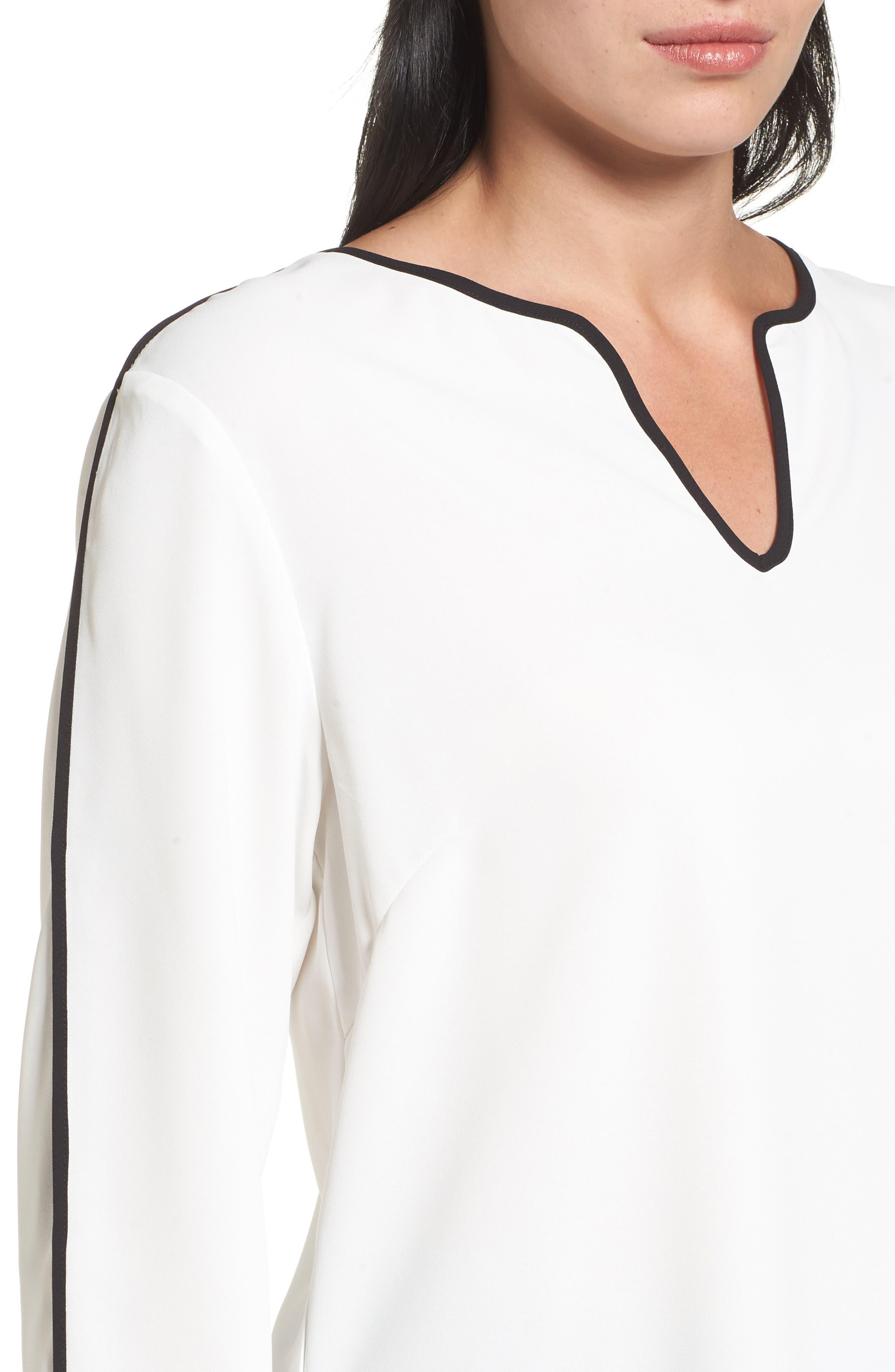 Split Sleeve Blouse,                             Alternate thumbnail 4, color,                             102