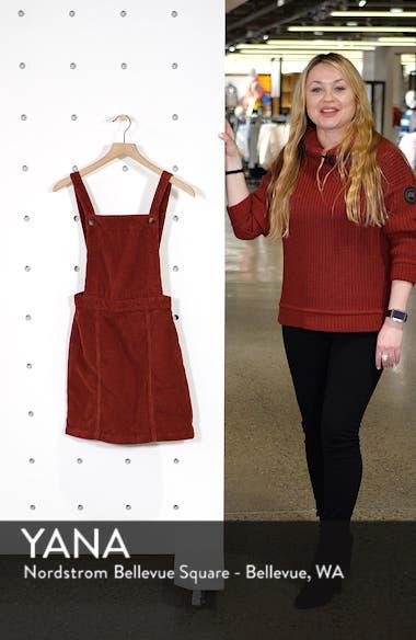 Horn Button Corduroy Pinafore Dress, sales video thumbnail
