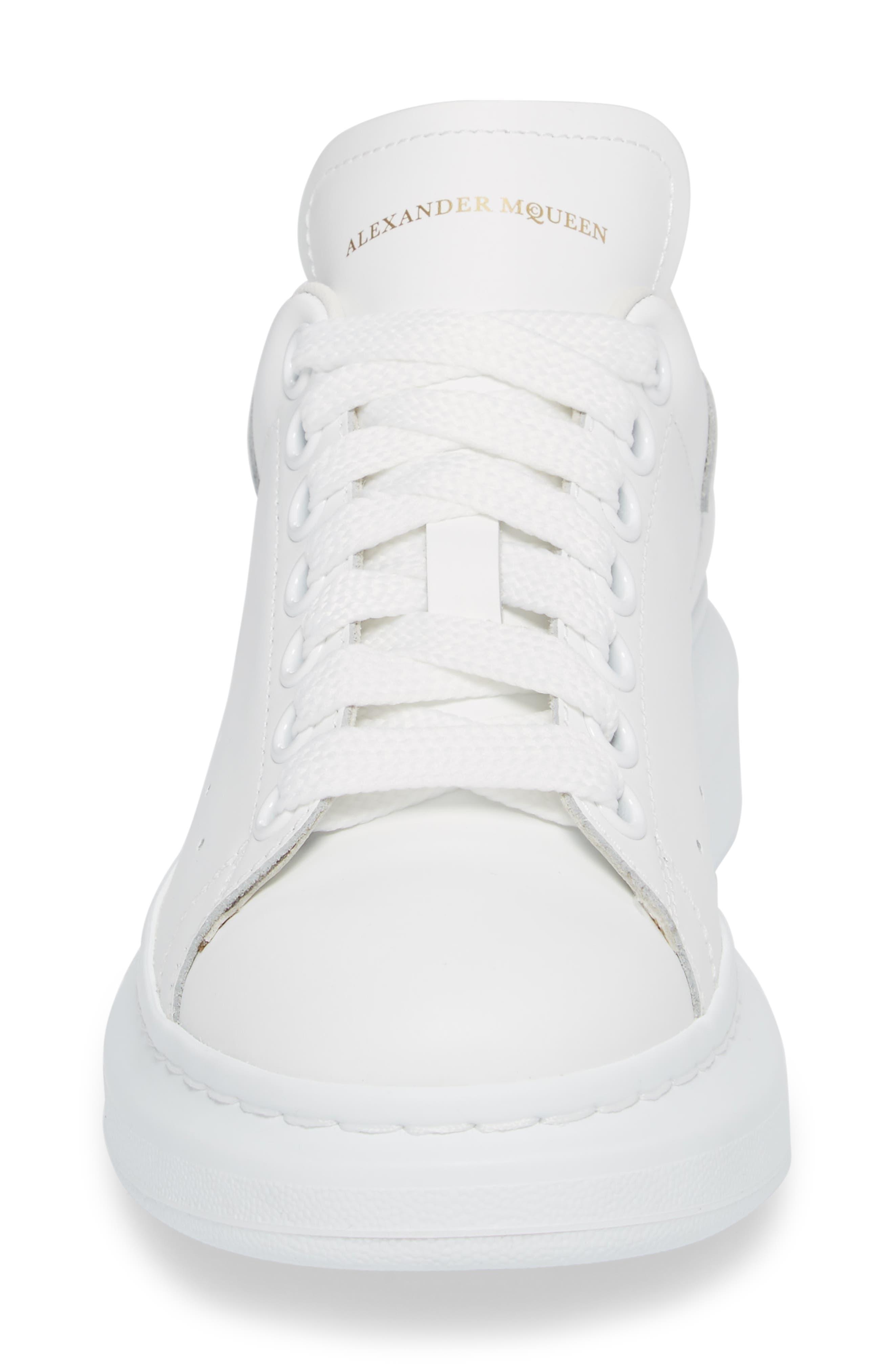ALEXANDER MCQUEEN,                             Sneaker,                             Alternate thumbnail 4, color,                             WHITE/ WHITE