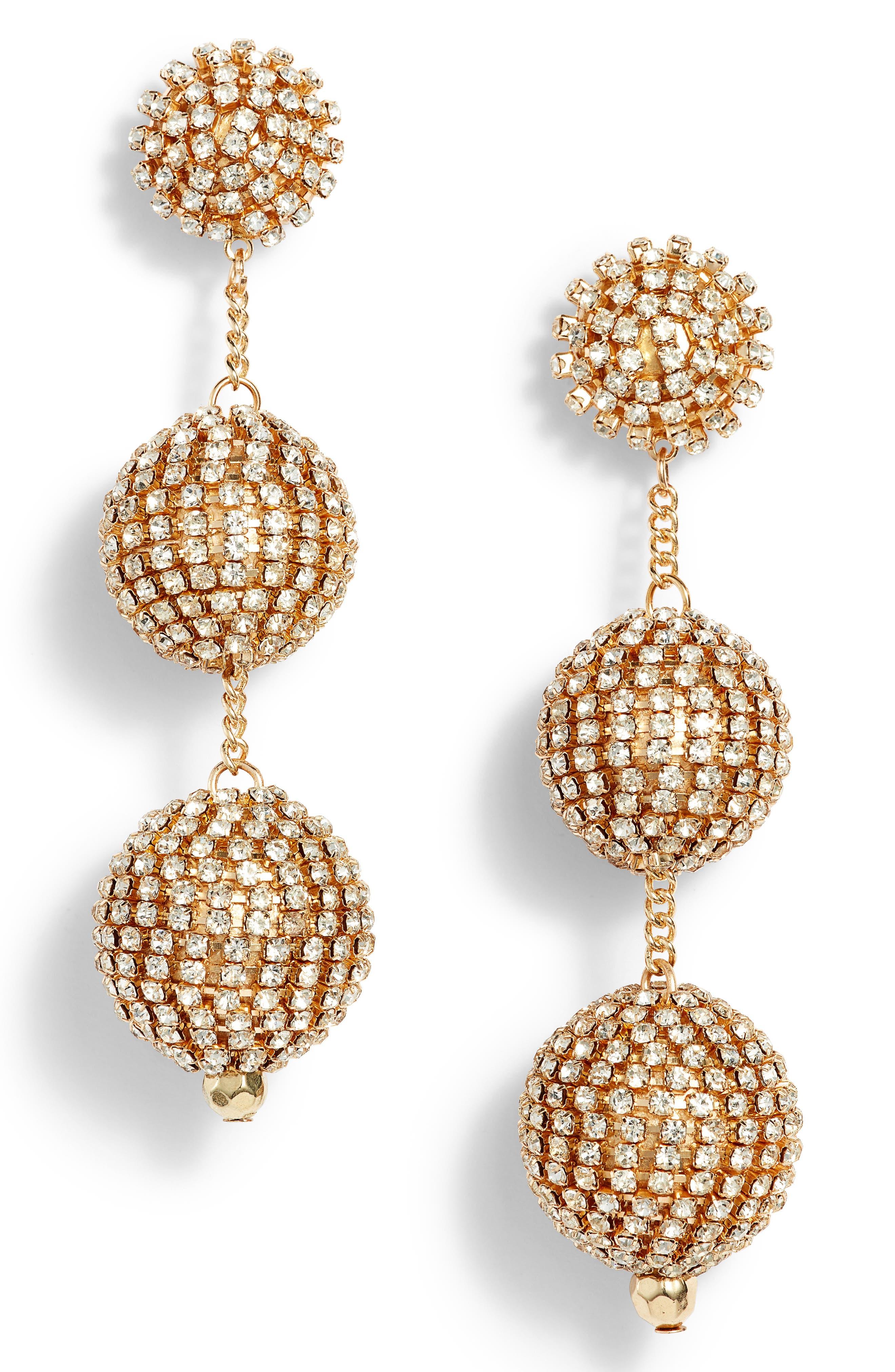Crystal Ball Drop Earrings,                             Main thumbnail 4, color,
