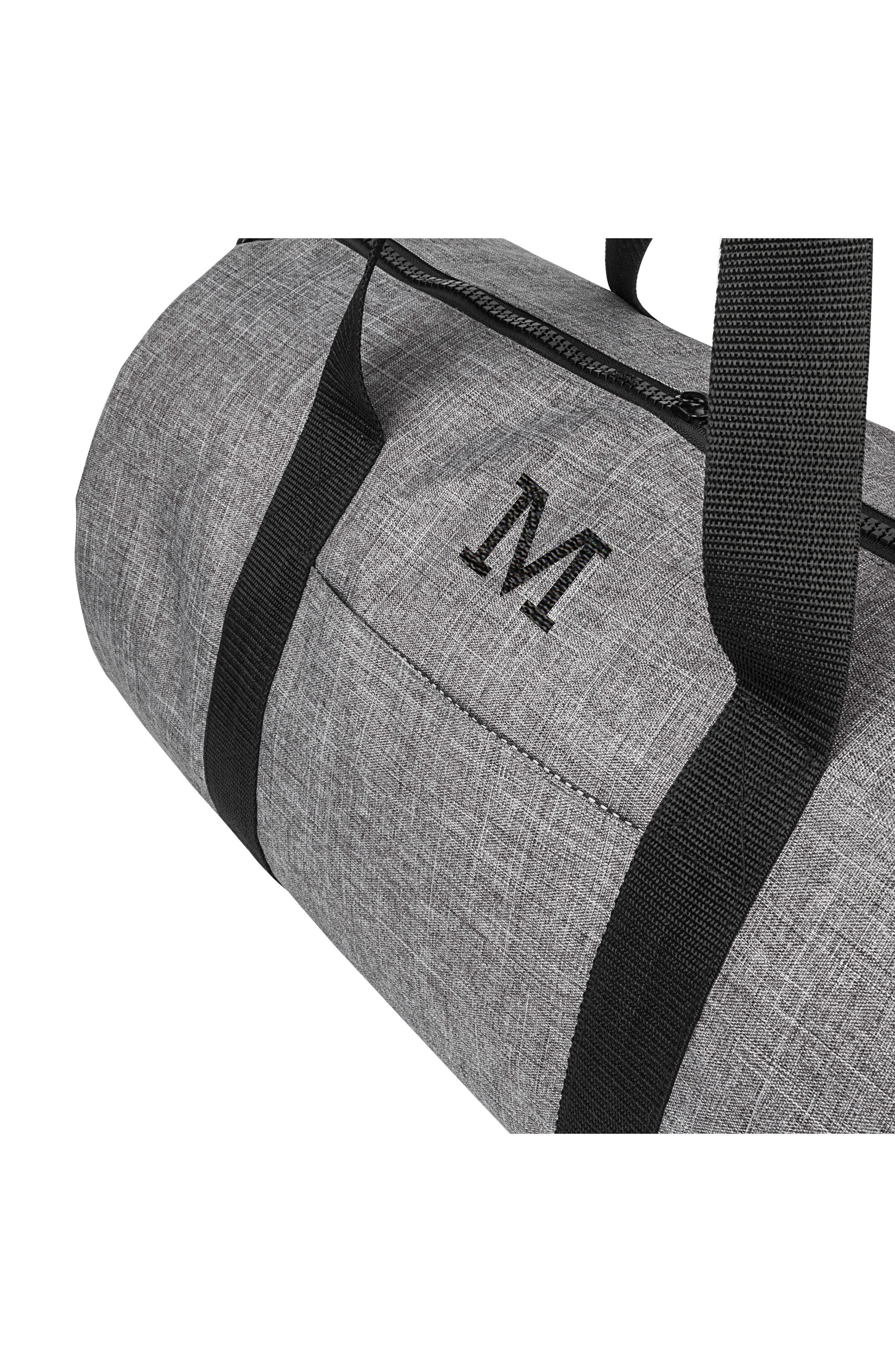 Monogram Duffel Bag,                             Alternate thumbnail 4, color,                             GREY