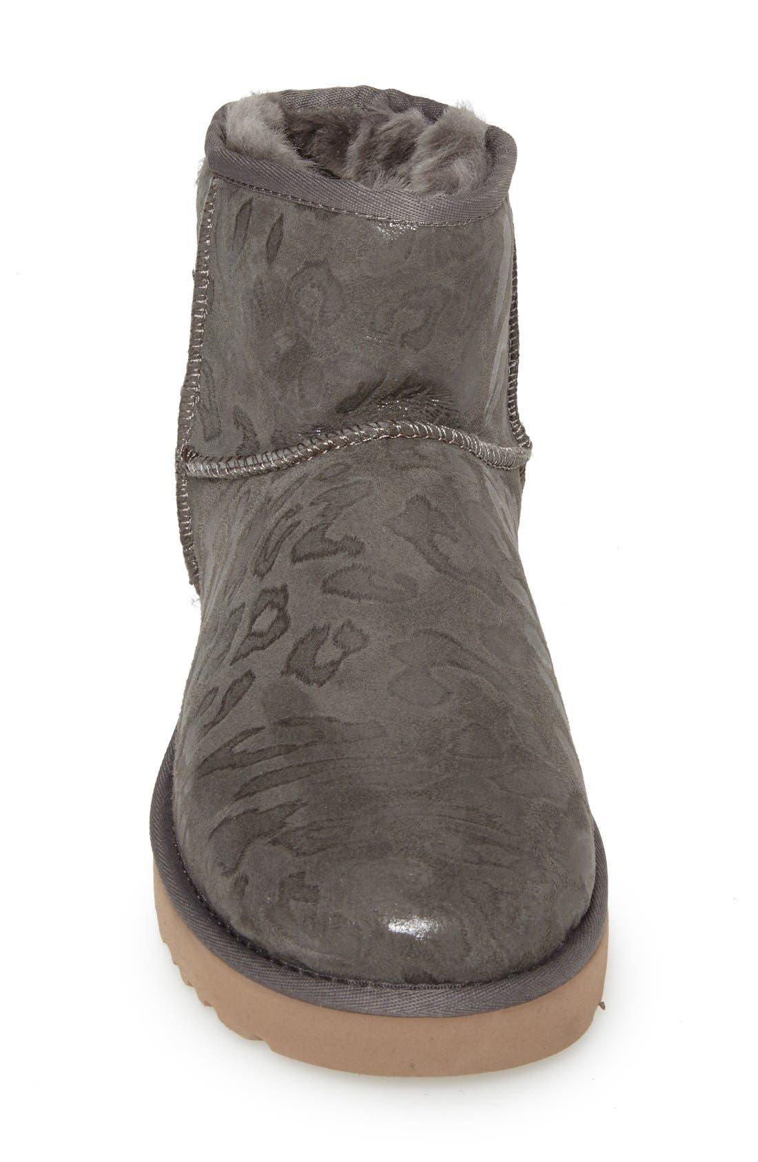 UGG<SUP>®</SUP>,                             Australia 'Classic Mini Leopard' Boot,                             Alternate thumbnail 3, color,                             020