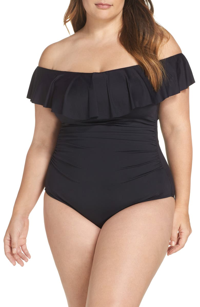 La Blanca OFF THE SHOULDER ONE-PIECE SWIMSUIT