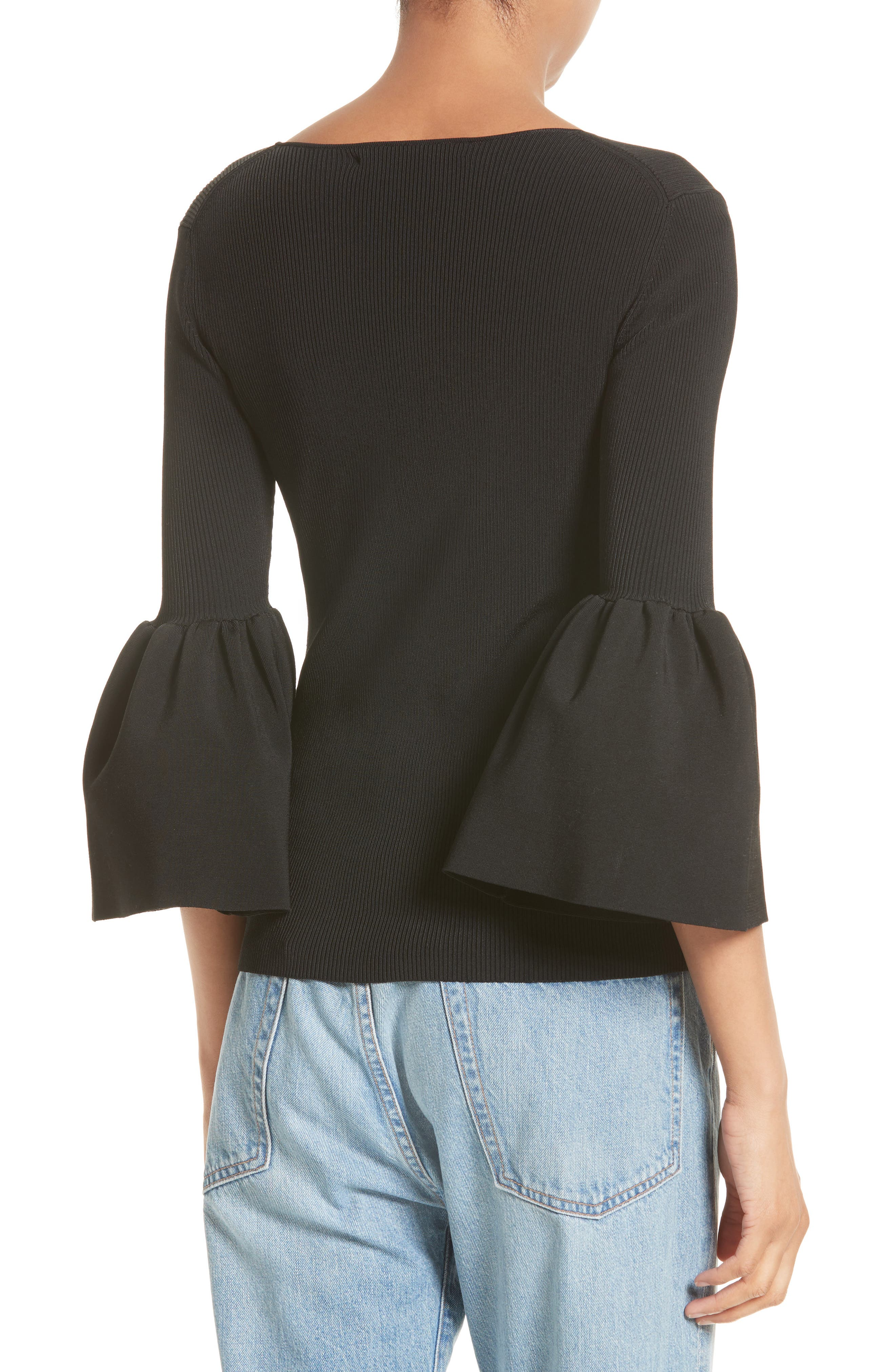 Willow Bell Sleeve Top,                             Alternate thumbnail 2, color,                             001