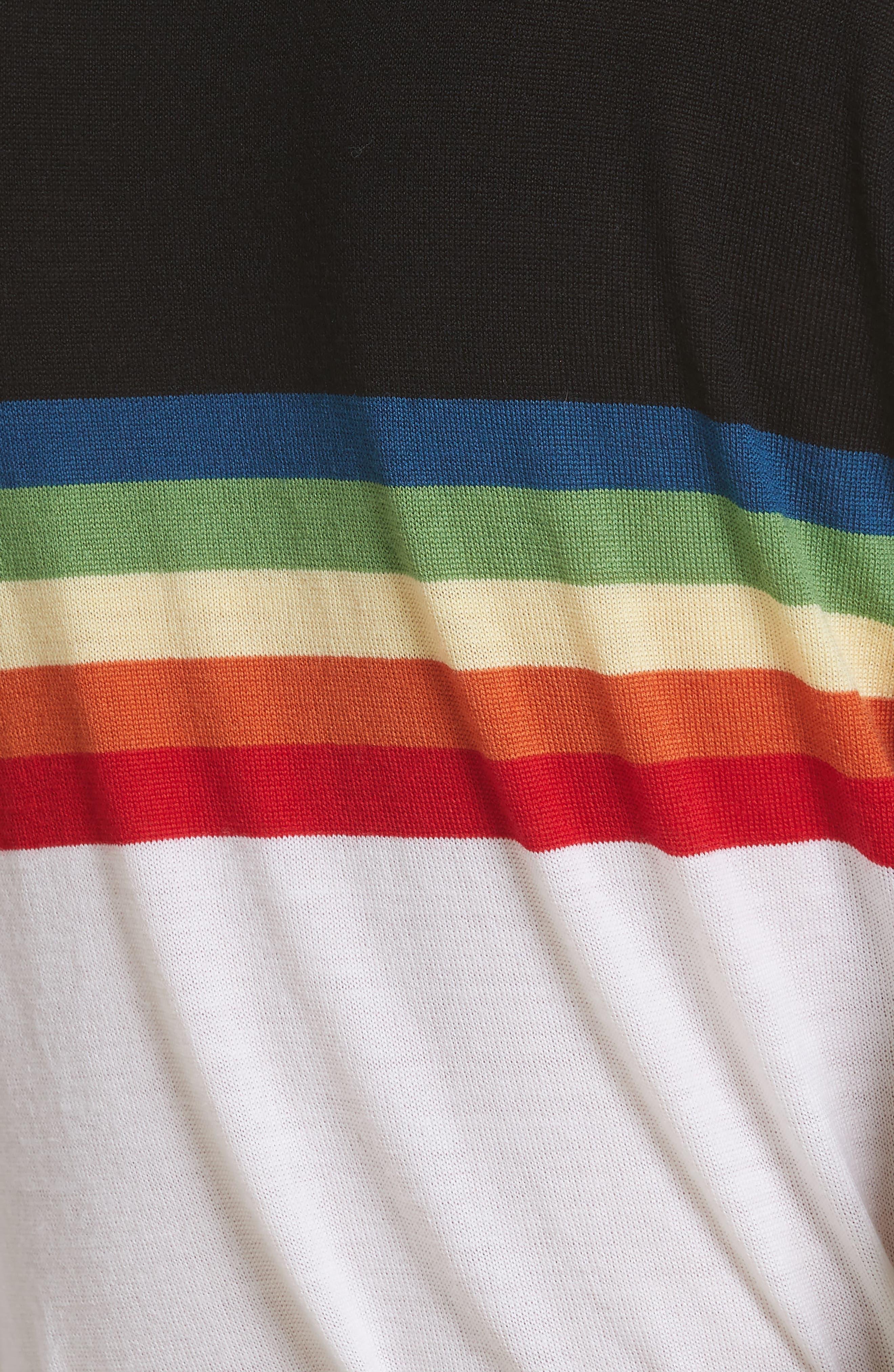 Diane von Furstenberg Rainbow Sweater,                             Alternate thumbnail 5, color,                             107