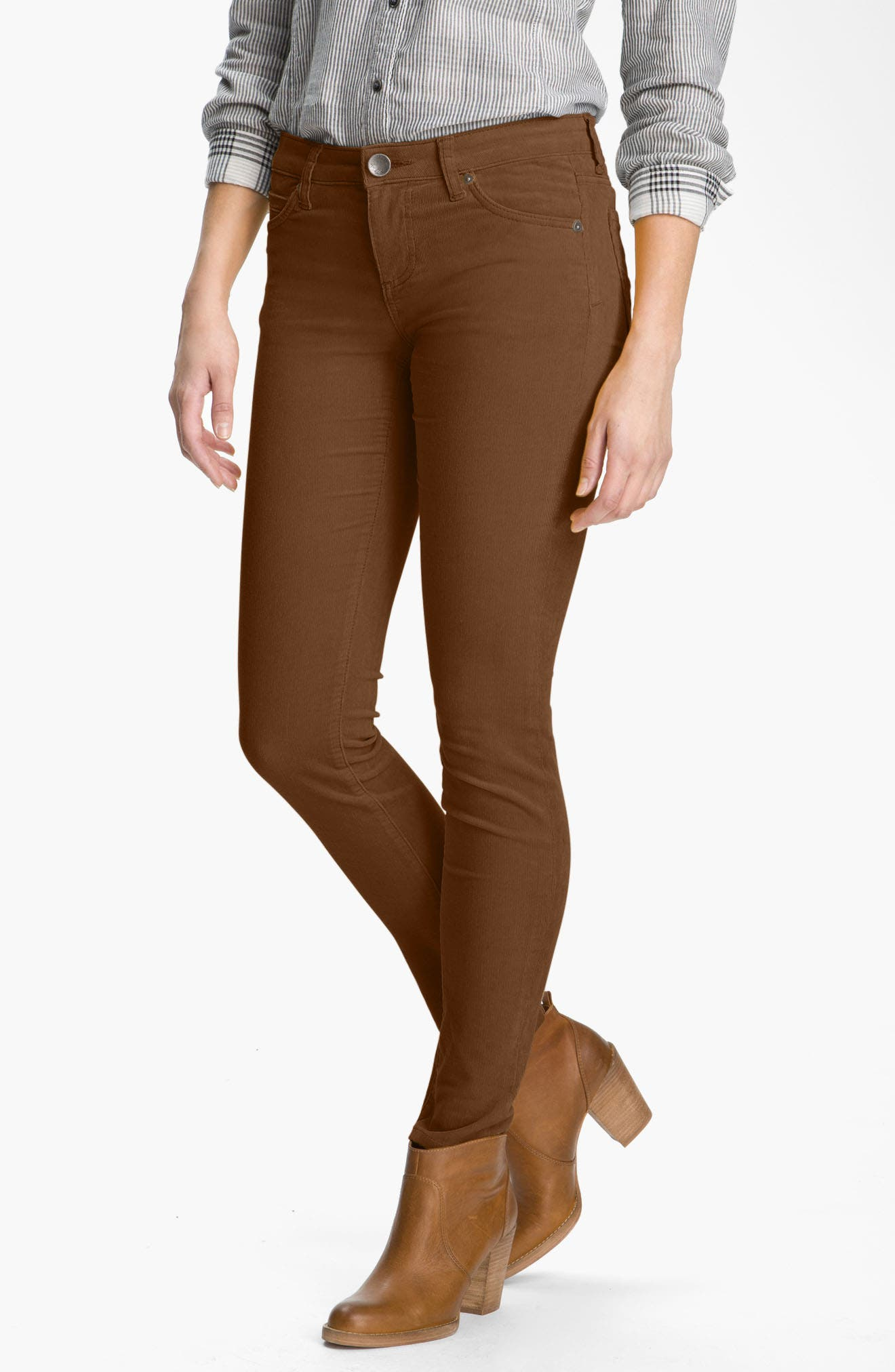 'Diana' Stretch Corduroy Skinny Pants,                             Alternate thumbnail 269, color,