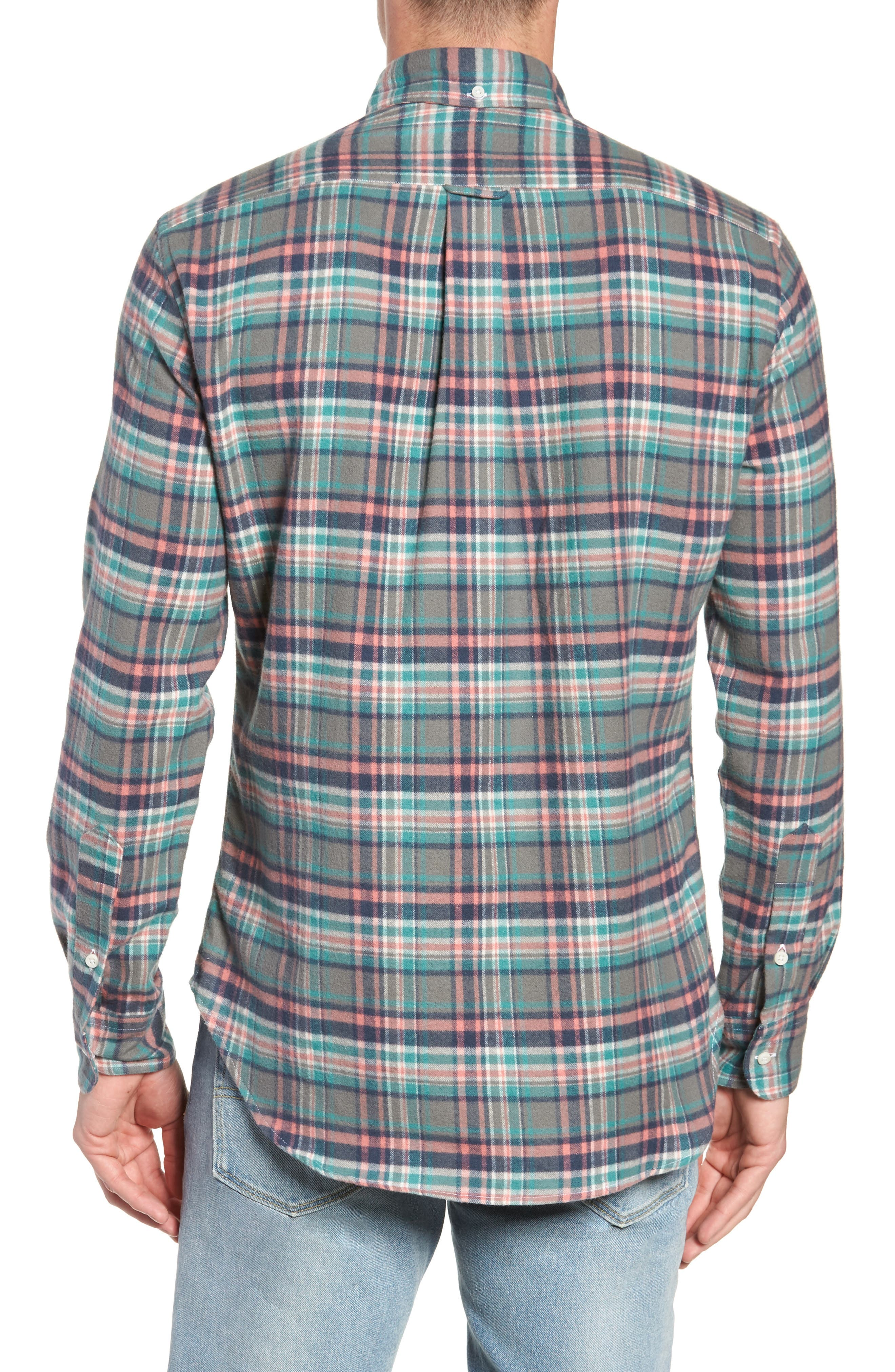 Regular Fit Candy Flannel Shirt,                             Alternate thumbnail 3, color,                             600