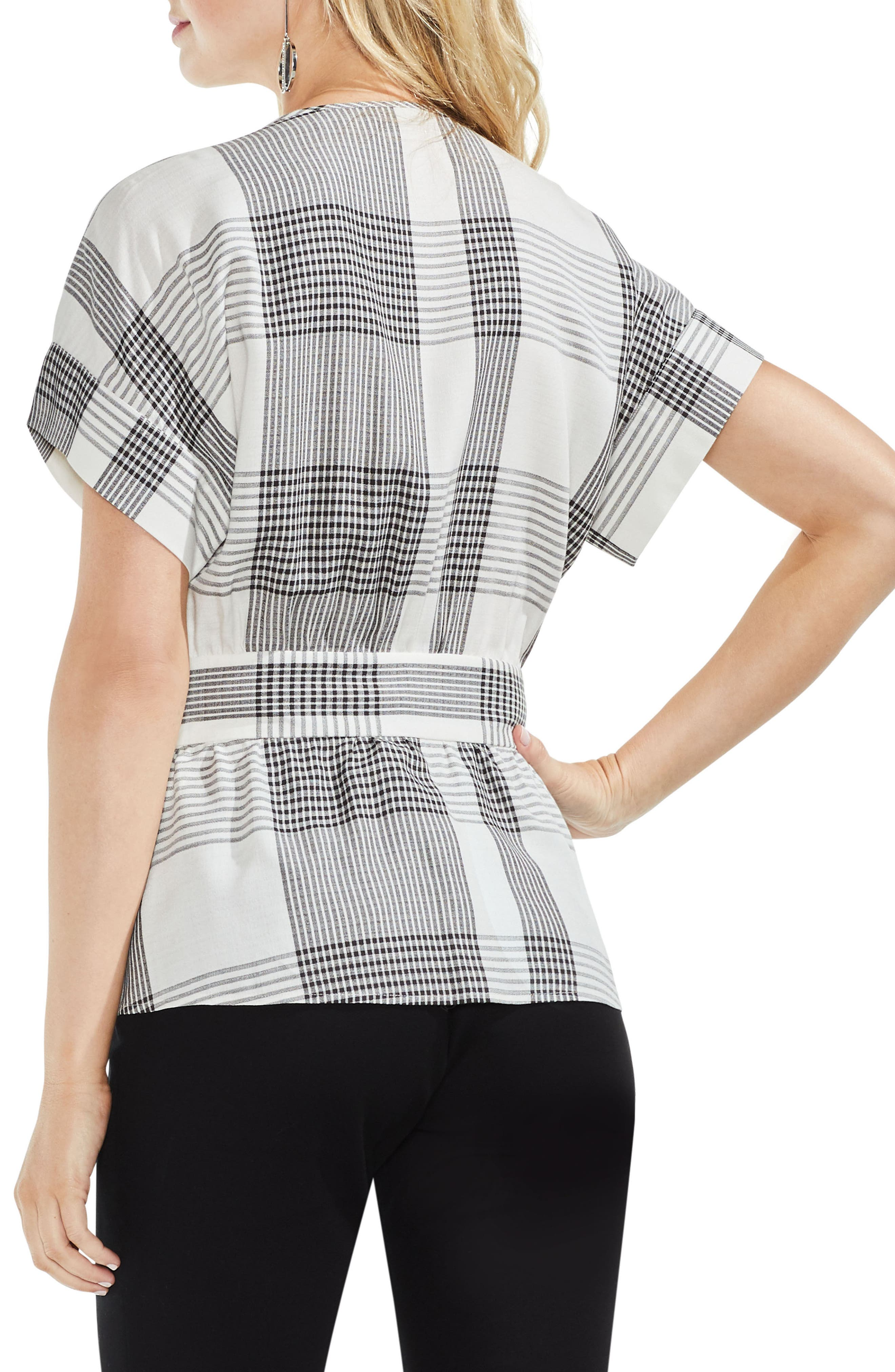Plaid Belted Top,                             Alternate thumbnail 2, color,                             006