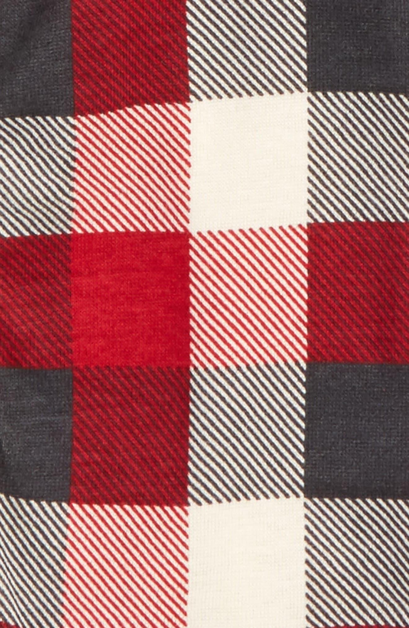 Plaid Organic Cotton Romper & Hat Set,                             Alternate thumbnail 2, color,                             620